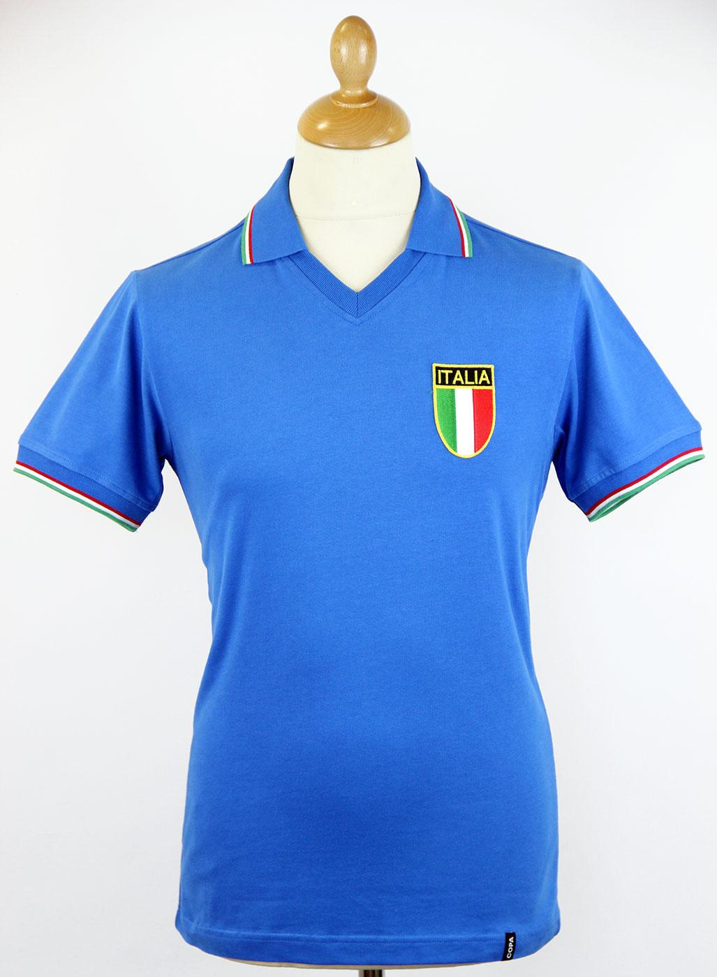 51c0f3971936 COPA Italy Retro Indie 1982 World Cup Football Shirt Blue