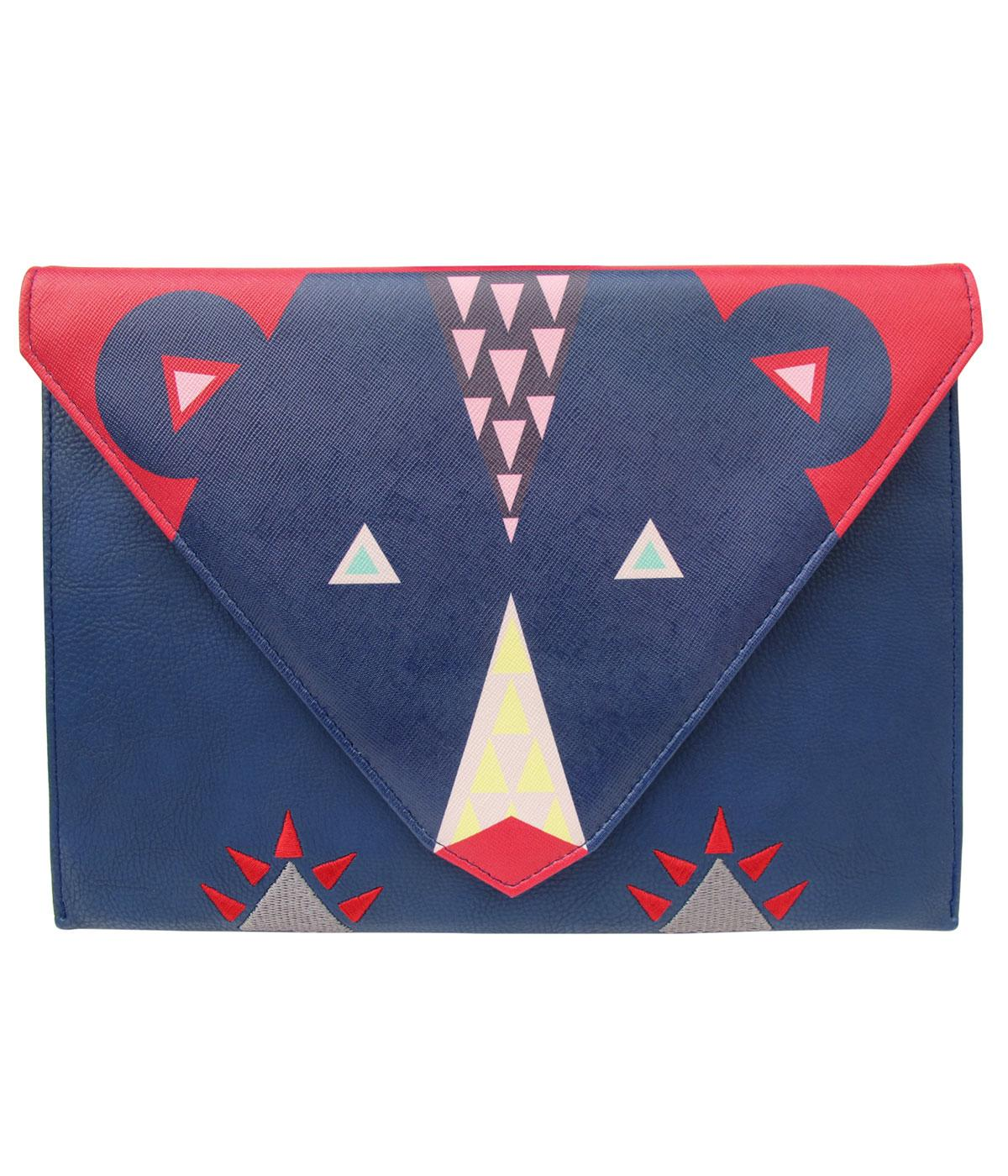 Dakota Bear DISASTER DESIGNS 1960s Mod Clutch Bag