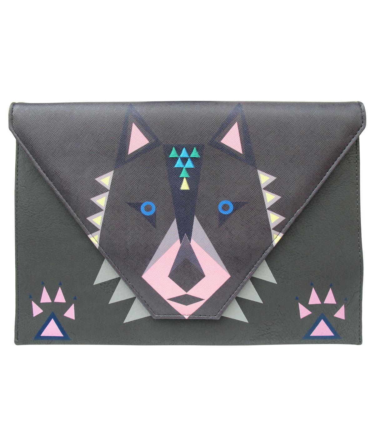 Dakota Wolf DISASTER DESIGNS 1960s Mod Clutch Bag