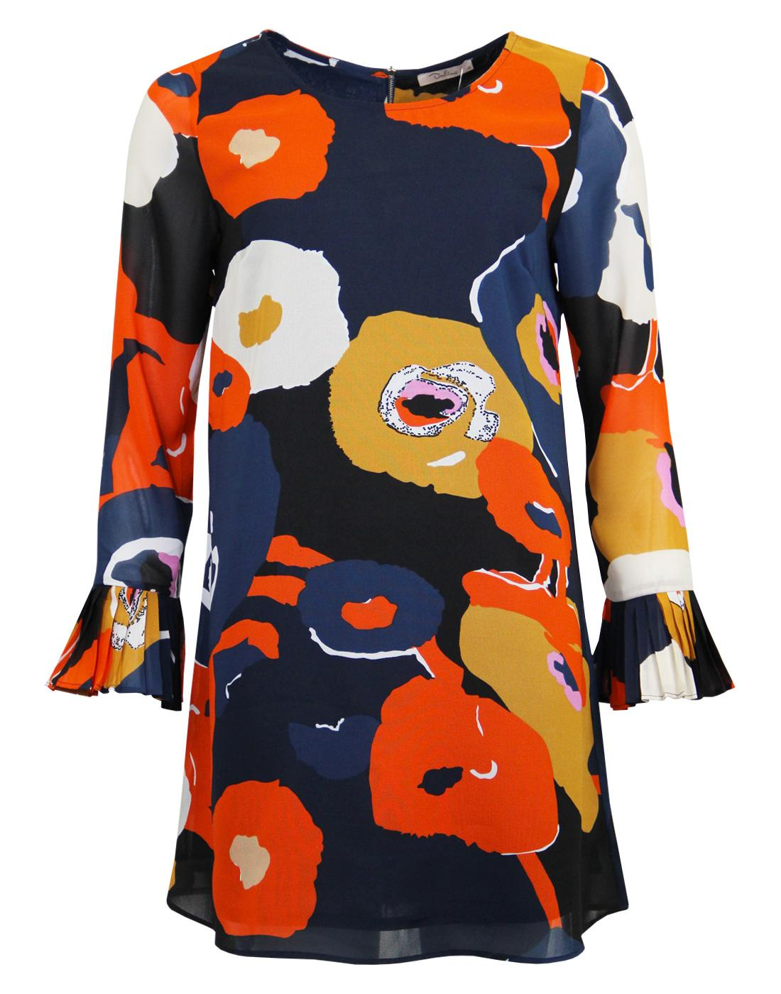 Floria DARLING Retro Abstract Floral Tunic Dress