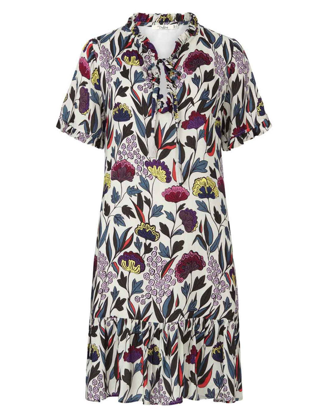 Hilda DARLING Retro Psychedelic Floral Tunic Dress