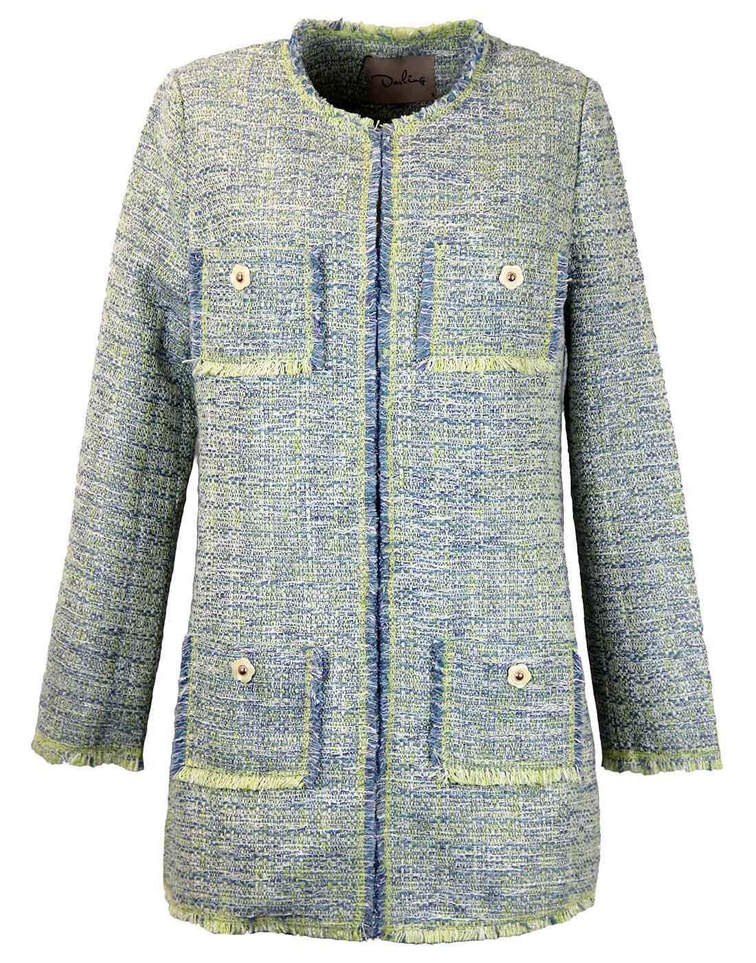 Esmee DARLING 1960s Mod Tweed Look Weave Coat