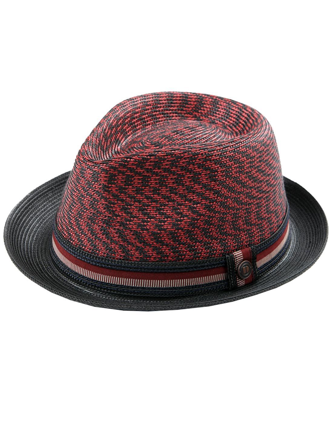 Adrian DASMARCA Retro Mod Volcano Weave Trilby Hat
