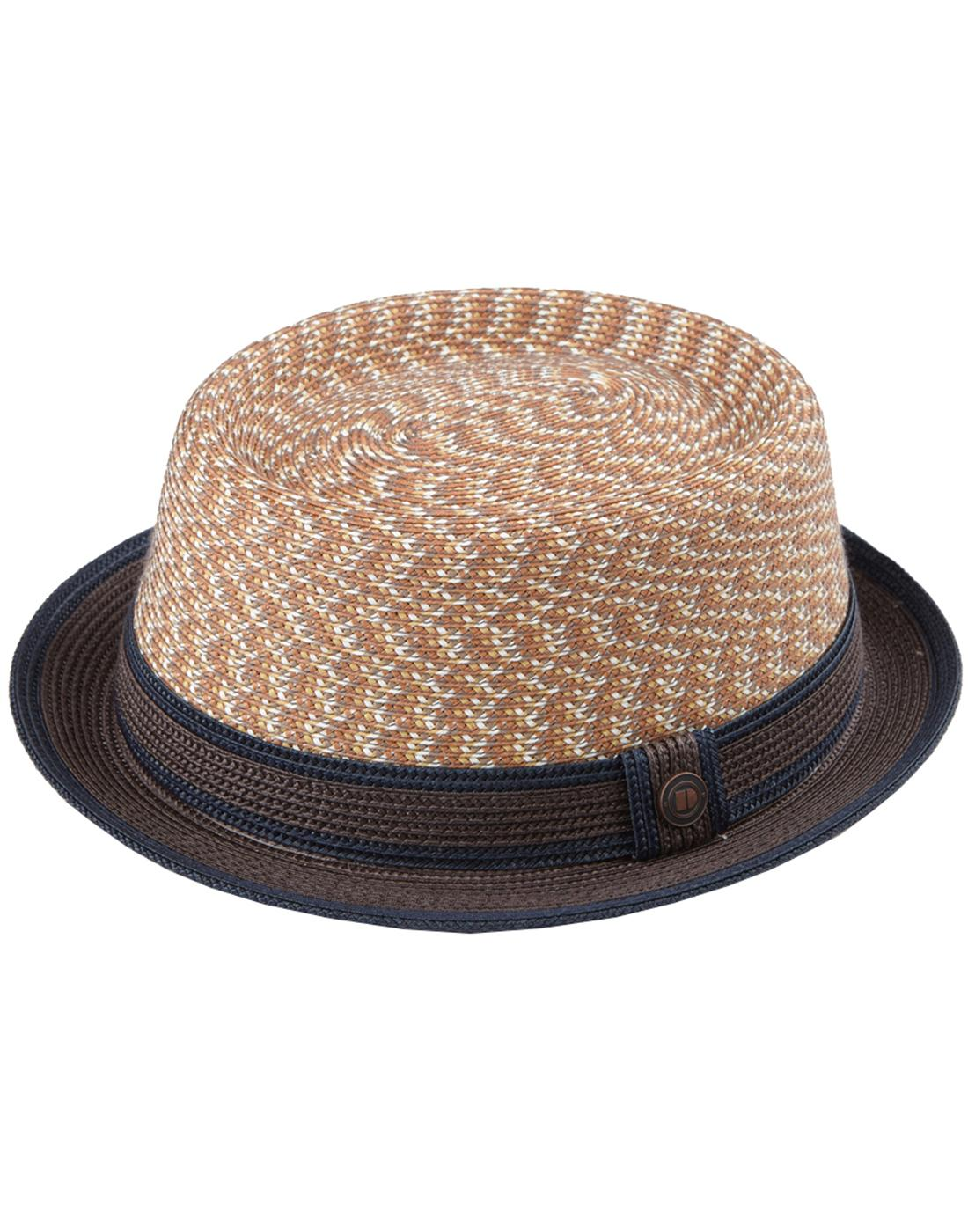 Bill DASMARCA Retro Mod Summer Pork Pie Hat Sunset