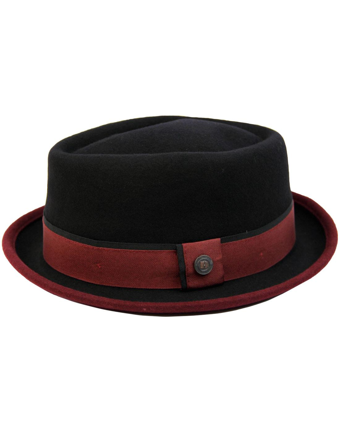 Edward DASMARCA Retro Mod Porkpie Trilby Hat (B/B)