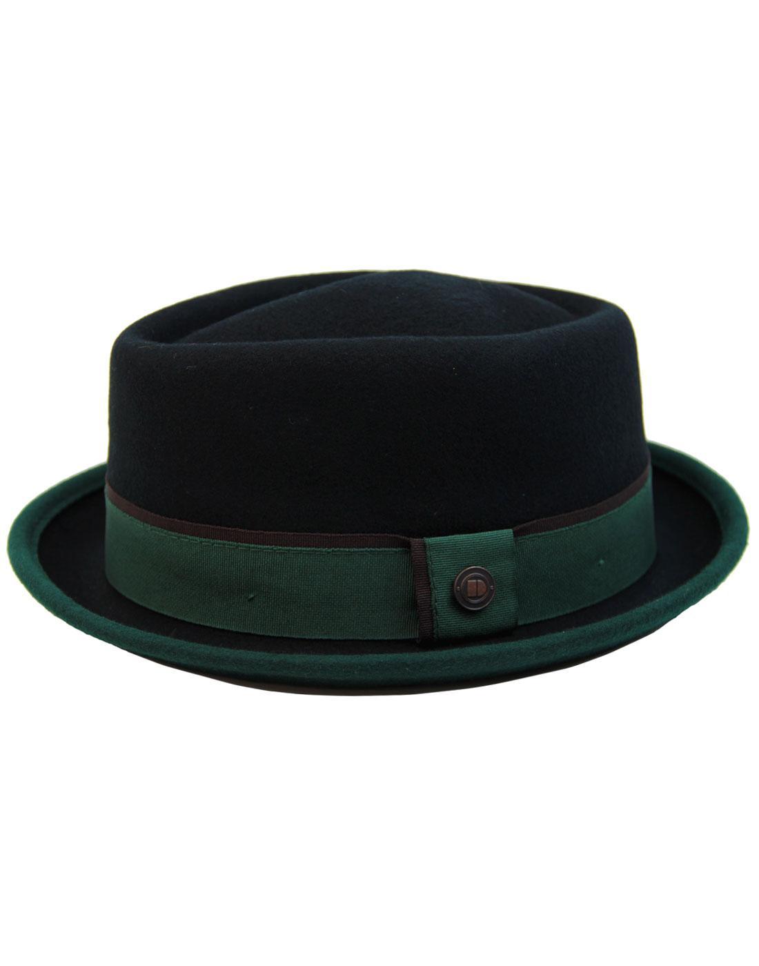 Edward DASMARCA Retro Mod Porkpie Trilby Hat (B/E)