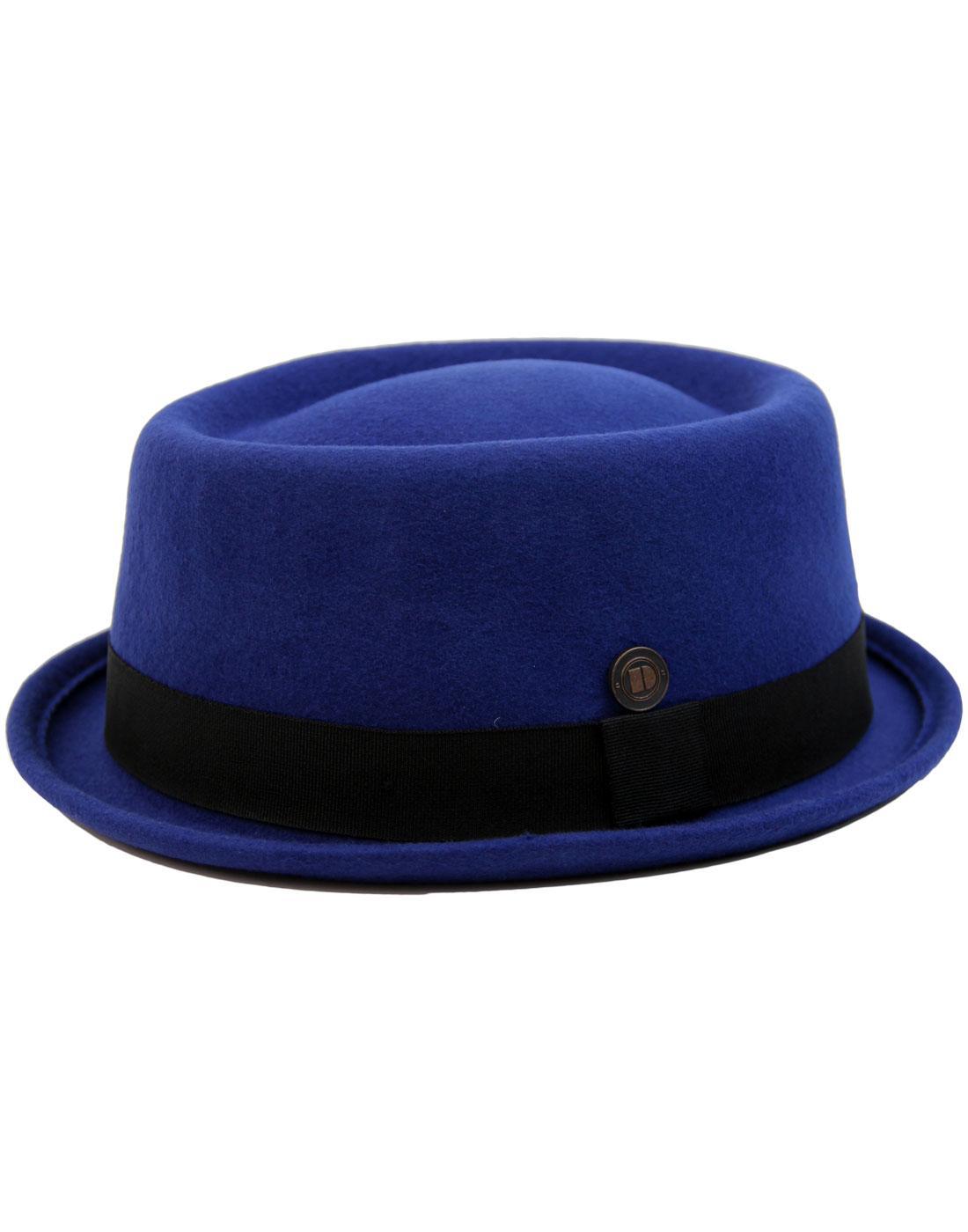 Jack DASMARCA Mod Revival Ska Porkpie Hat BLUE