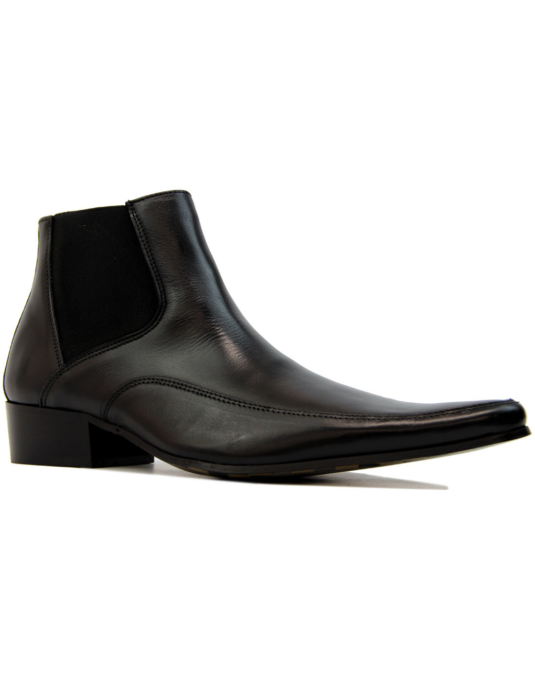 Harrison Mod Leather Cuban Chelsea Beatle Boots