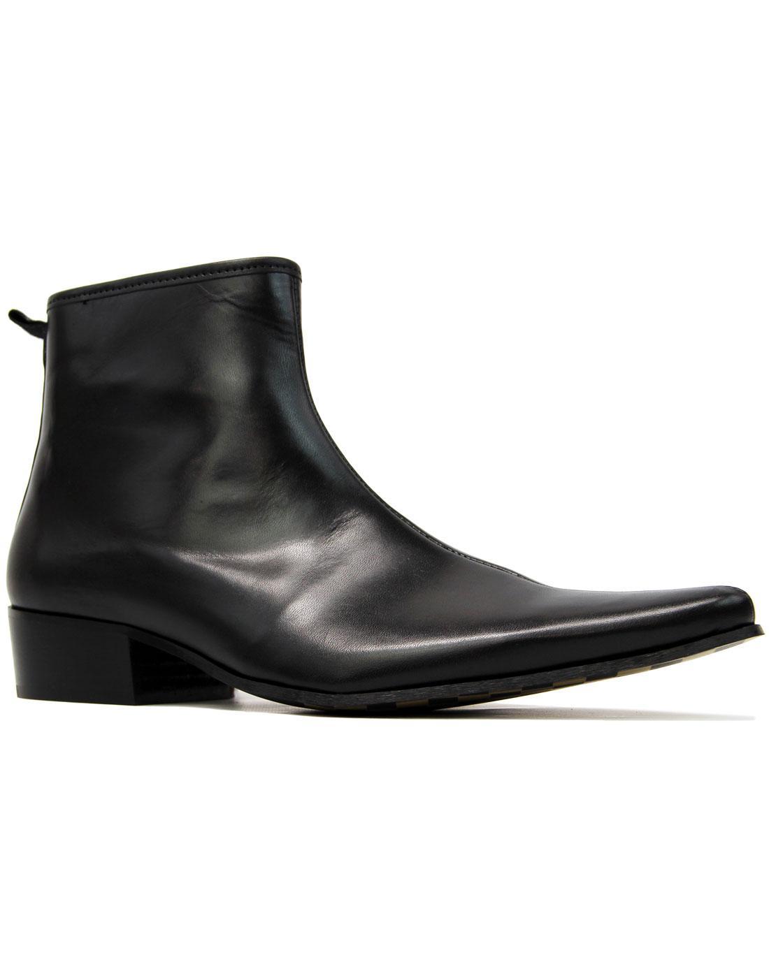 Ziggy DELICIOUS JUNCTION Black Zip Chelsea Boots