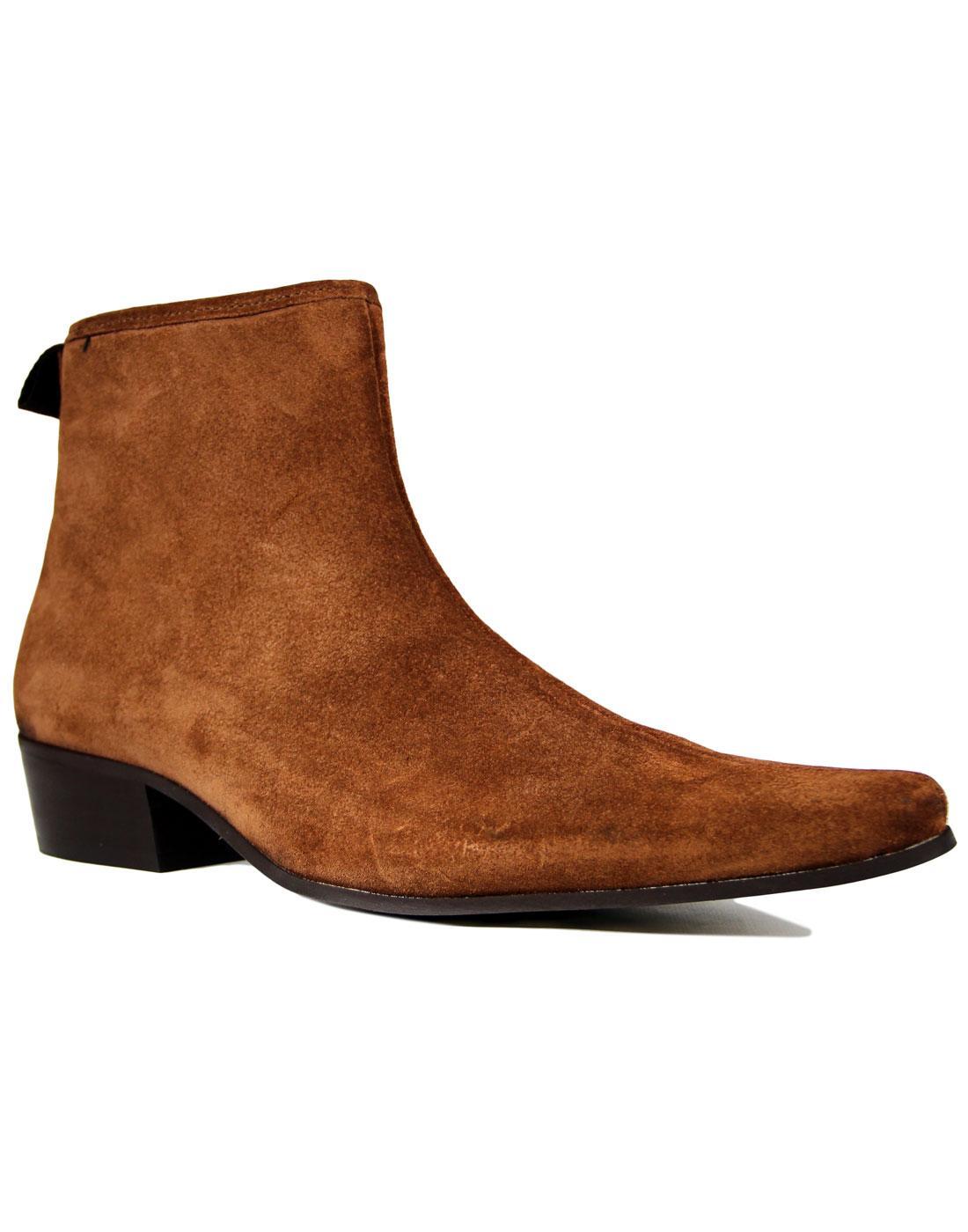 Ziggy DELICIOUS JUNCTION Cognac Zip Chelsea Boots