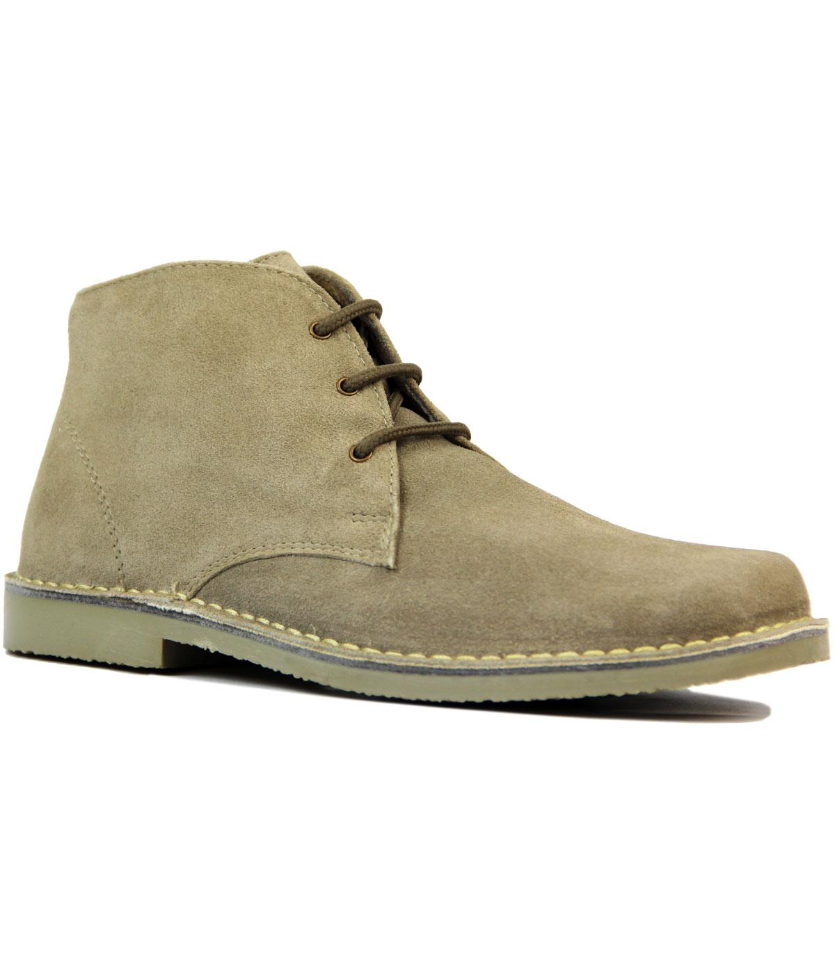 Detour - Men's Sixties Mod Desert Boots in Sand