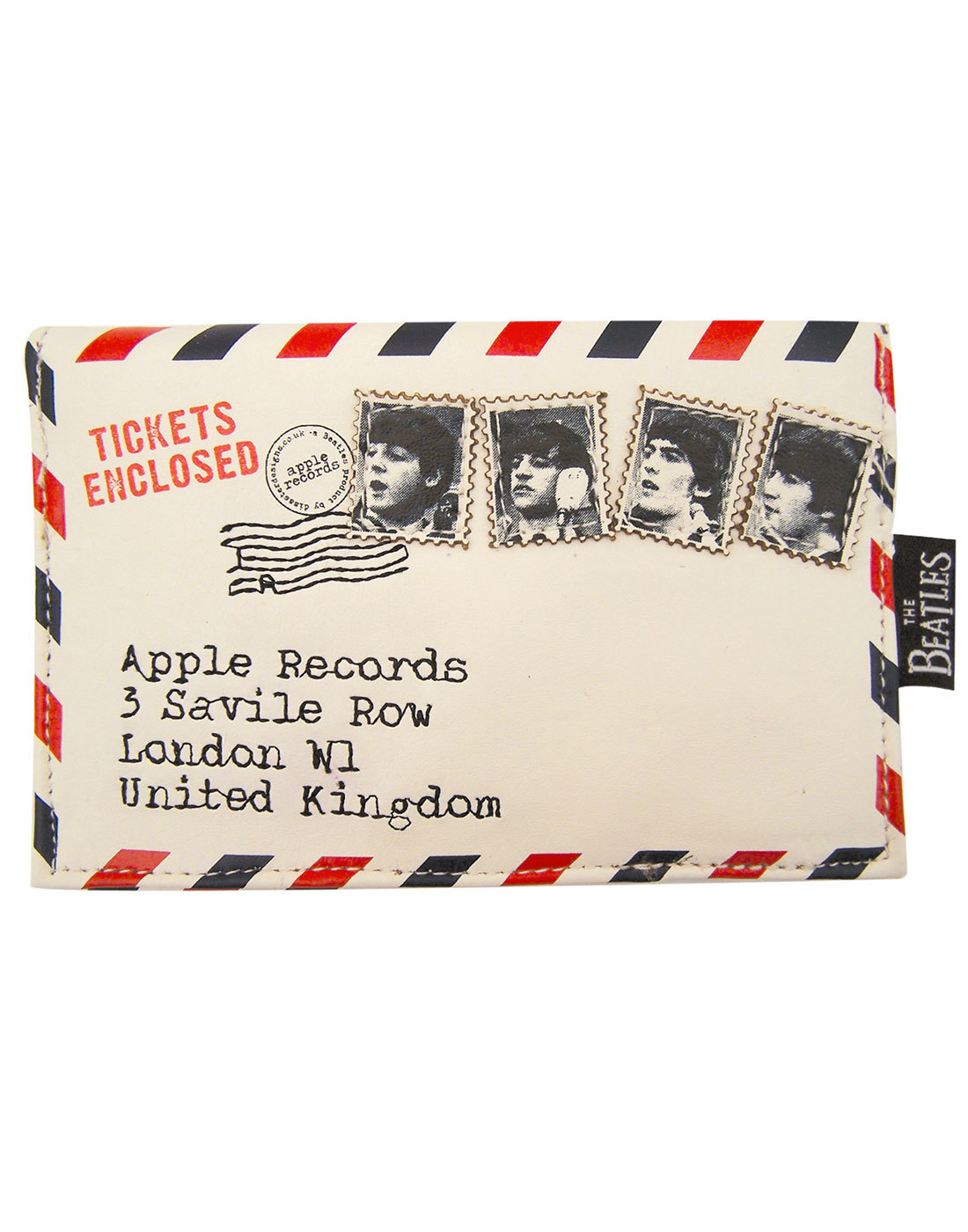 Beatles Ticket To Ride Envelope Retro Purse Wallet