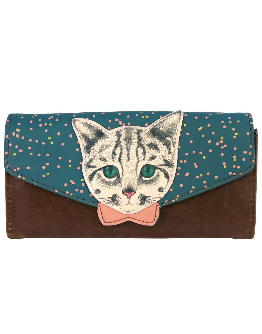 Meow DISASTER DESIGNS Retro Kitty Wallet