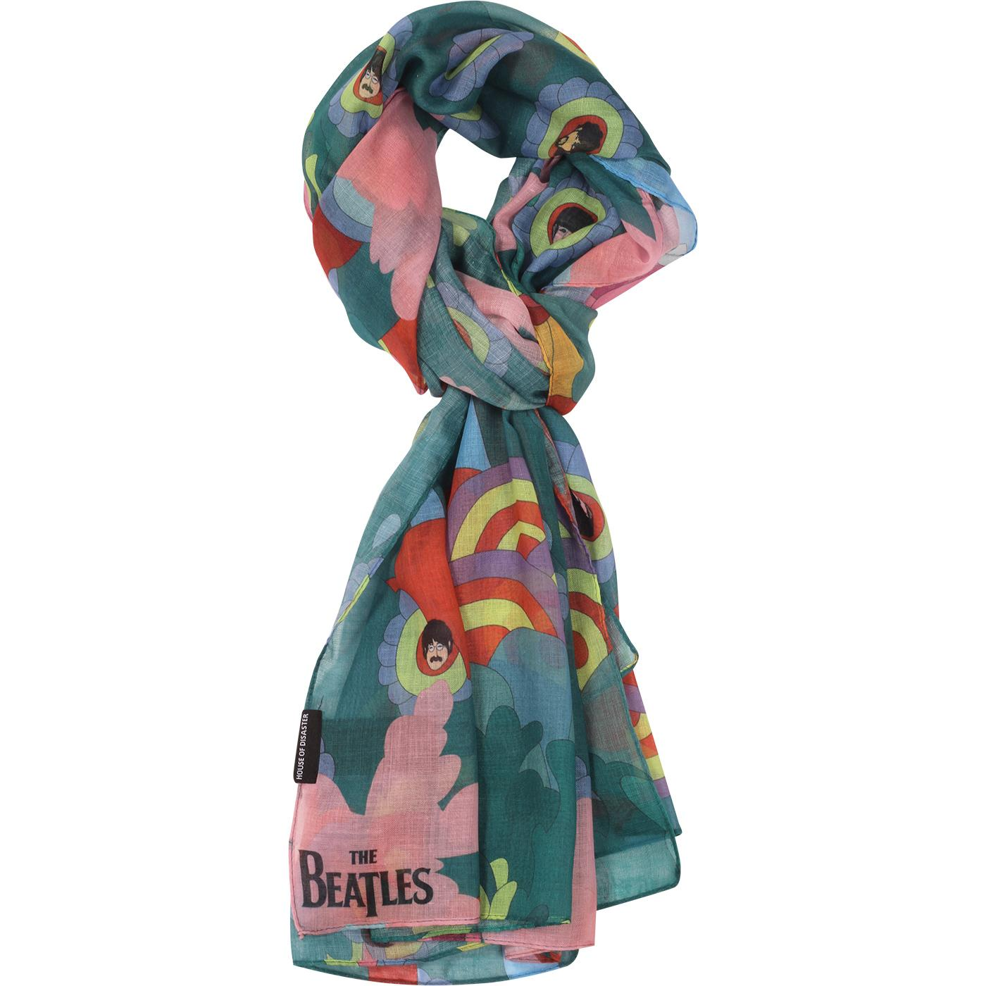 DISASTER DESIGN Yellow Submarine Psychedelic Scarf