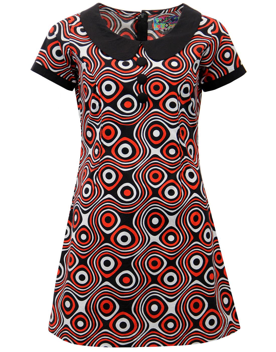 Dollierocker Op Art MADCAP ENGLAND 1960s Mod Dress