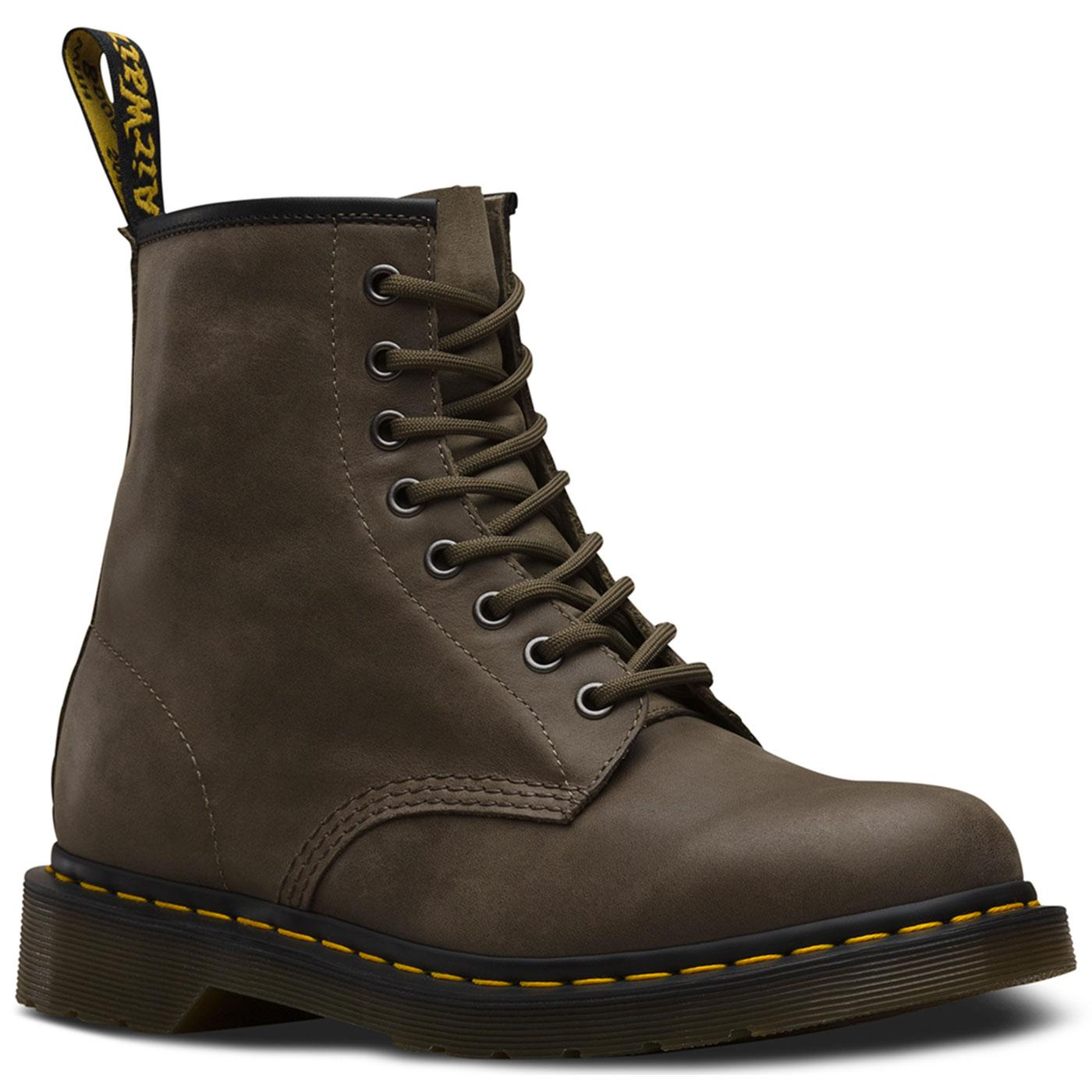 DR MARTENS Men's Retro 1460 Boots in Dusky Olive
