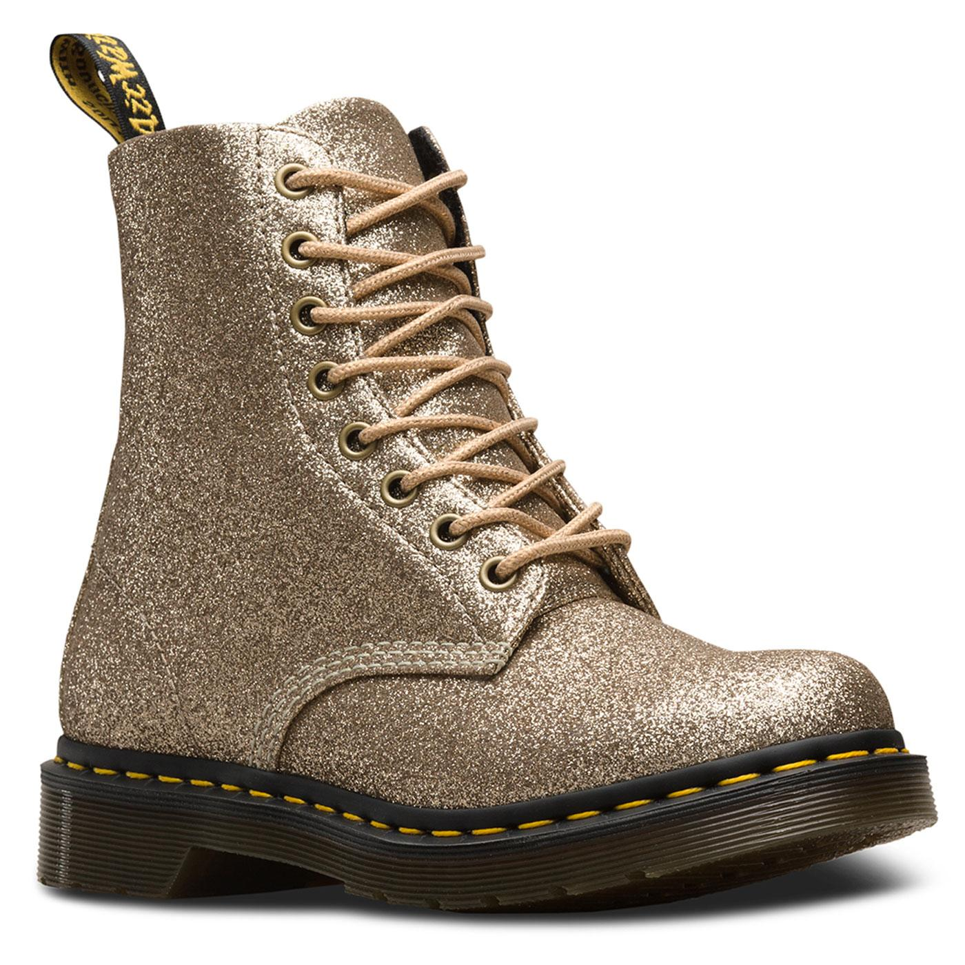 Pascal DR MARTENS 1460 Boots in Pale Gold Glitter