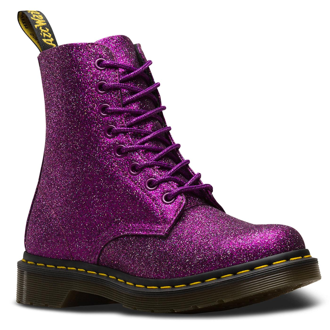 Pascal DR MARTENS 1460 Boots in Purple Glitter