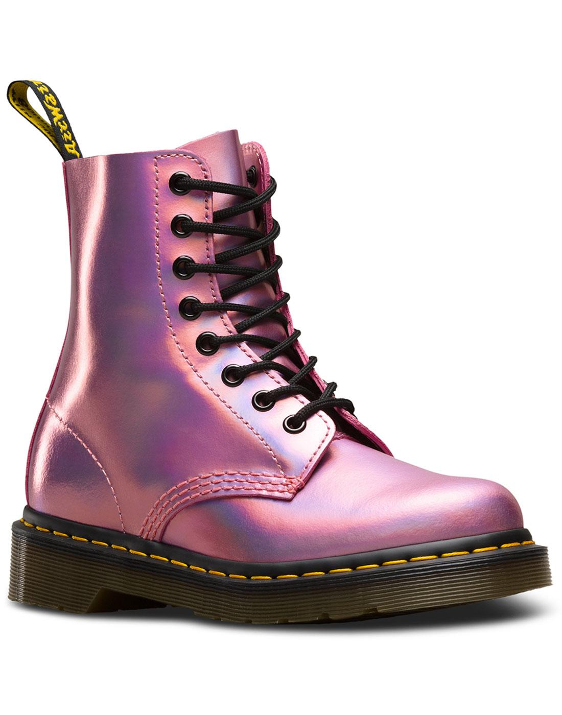 DR MARTENS 1460 Pascal Iced Metallic 70s Glam Boots Pink 61b3b1c01108