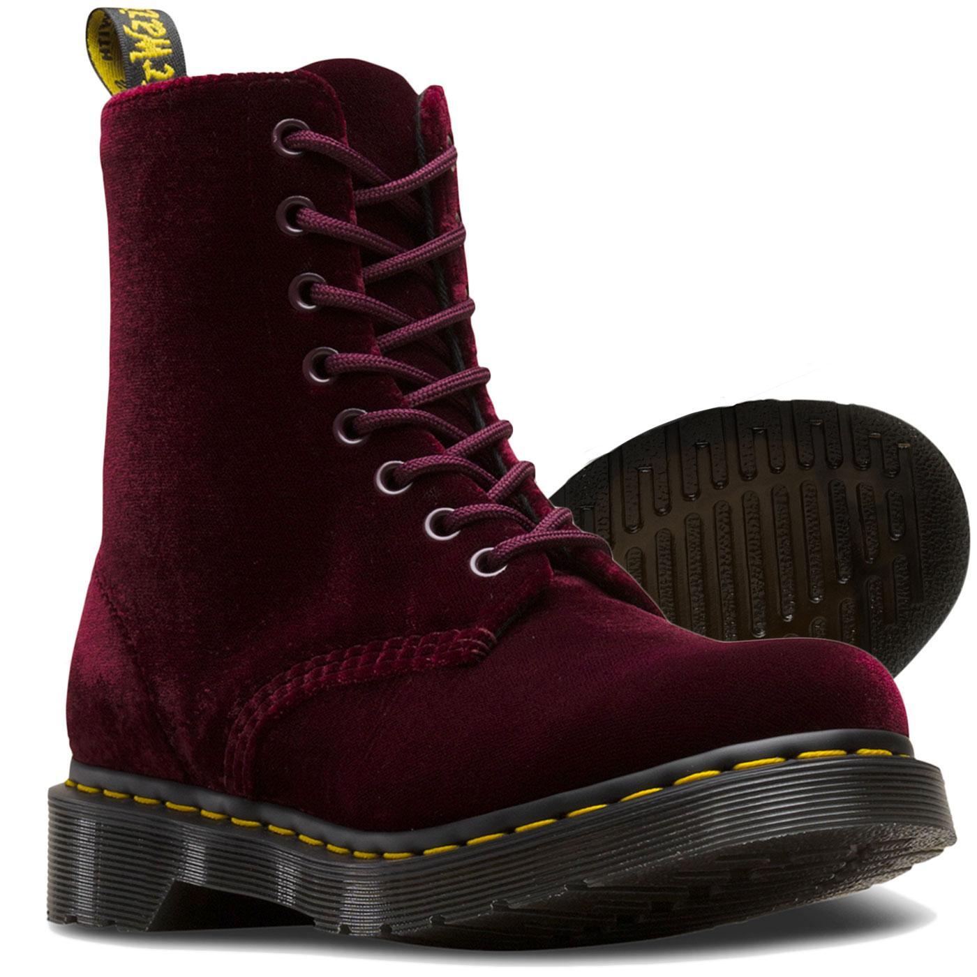 8c88faf3a 1460 Pascal Velvet DR MARTENS WOMENS Boots Cherry