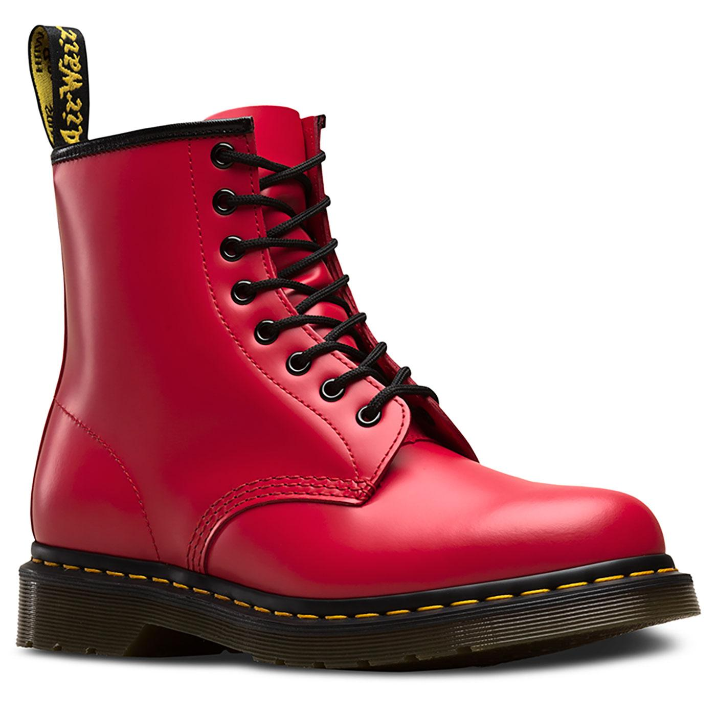 1460 Colour Pop DR MARTENS Retro Smooth Boots Red