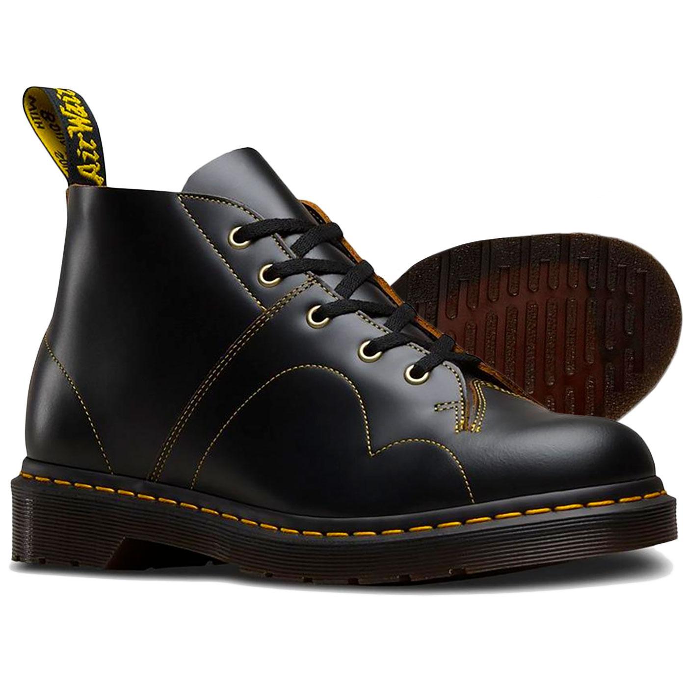 bc3c16216e7 Dr Martens Church Retro 60's Mod Monkey Boots in Black