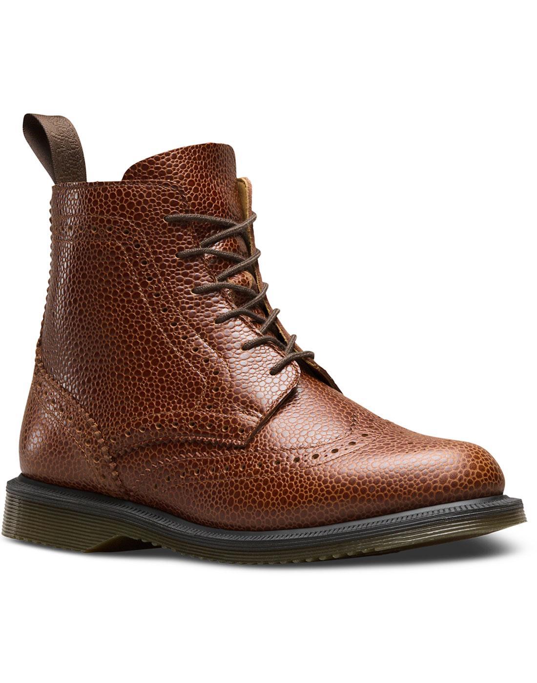 Delphine DR MARTENS Side Zip Brogue Ankle Boots C