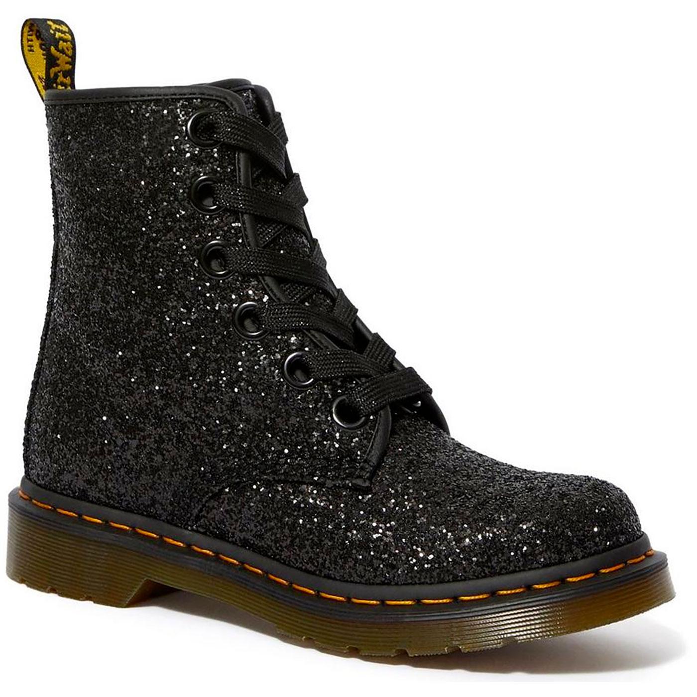 Farrah DR MARTENS Retro 1460 Glitter Boot (Black)
