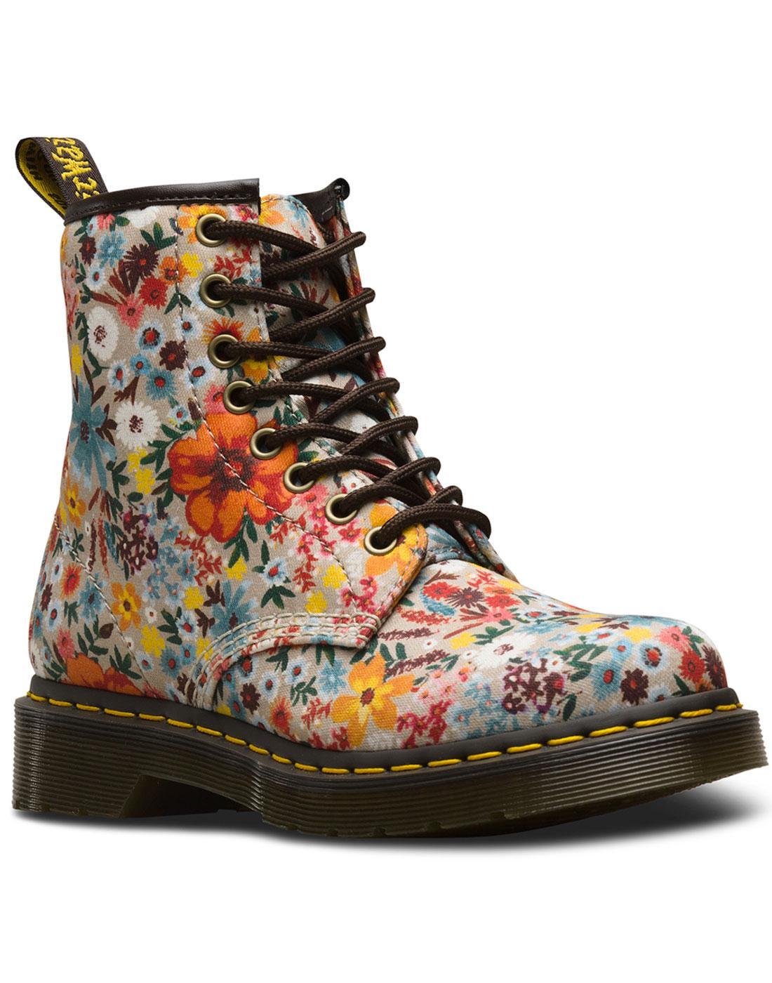 Wanderlust Fine Canvas DR MARTENS Floral Boots T