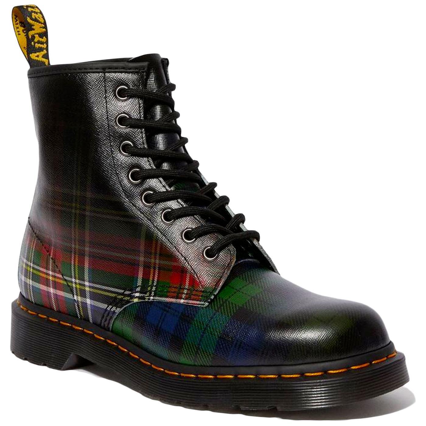 1460 Tartan DR MARTENS Retro Mod Check Ankle Boots