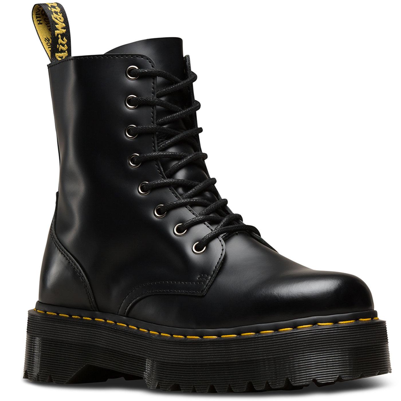 Jadon DR MARTENS Retro Smooth Platform Boots BLACK