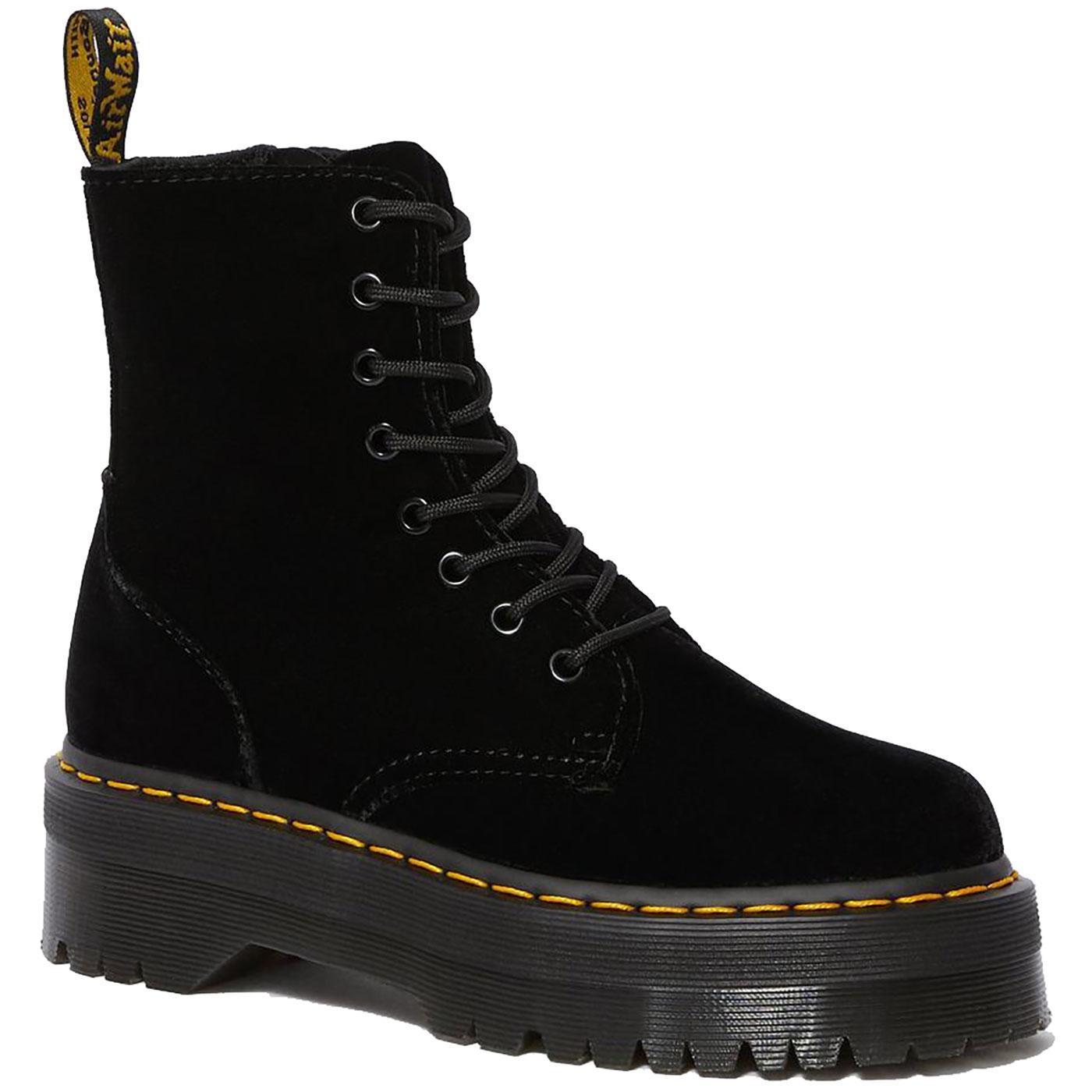 Jadon DR MARTENS Women's 70s Velvet Platform Boots