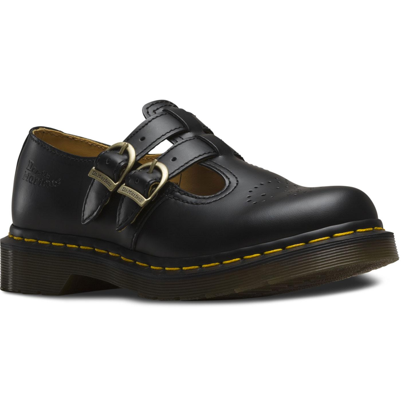 8065 Mary Jane DR MARTENS Black Smooth Shoes