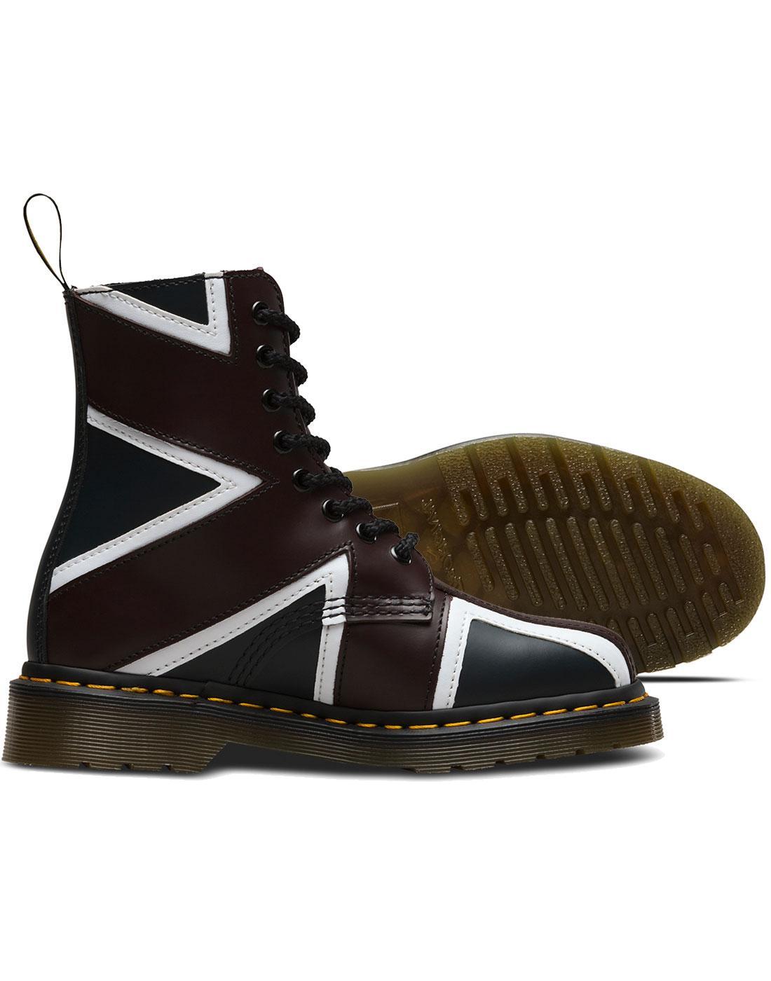 ed66ba0fa8 DR MARTENS Pascal Brit Men's Mod Punk Union Jack 8 Eyelet Boots
