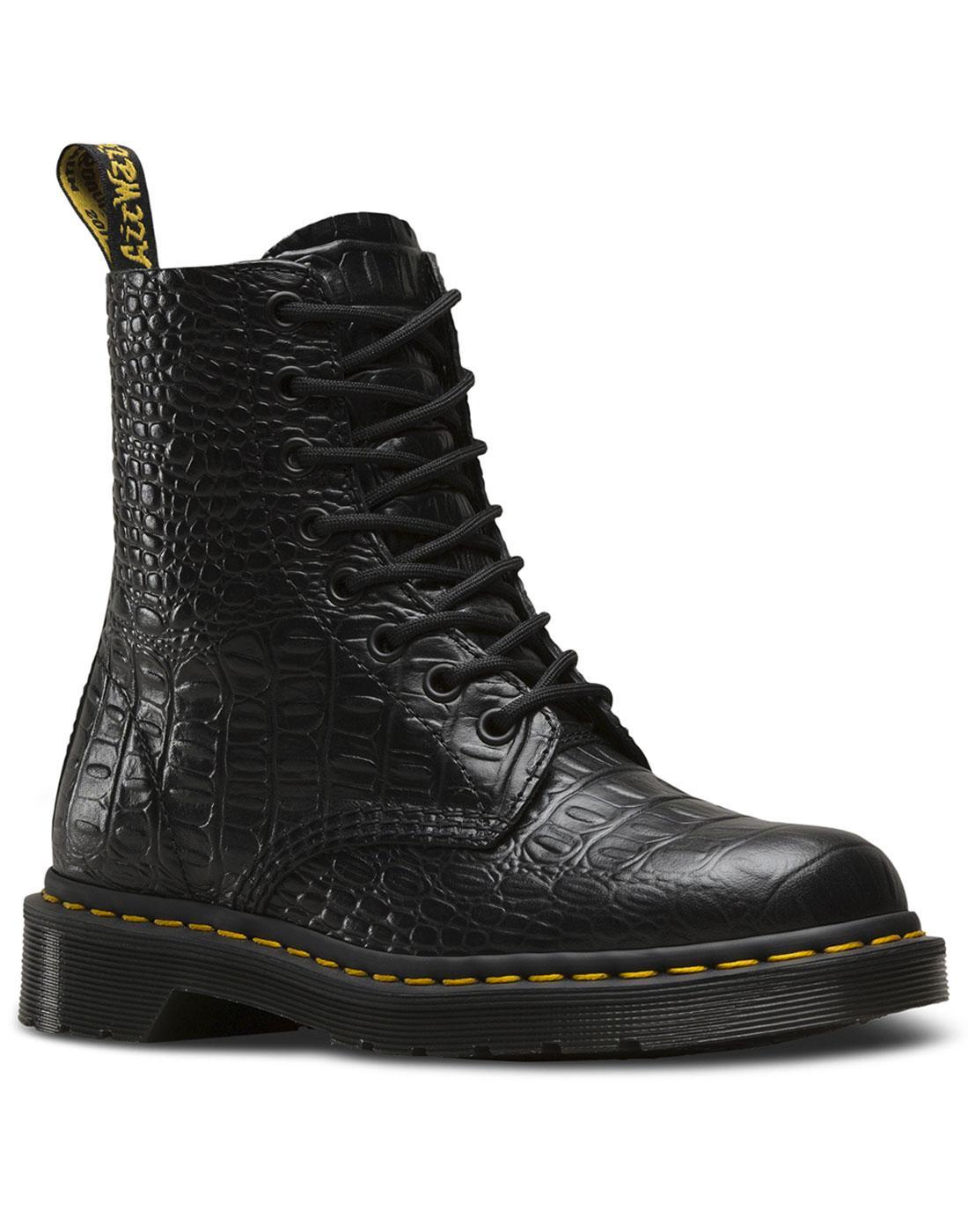 Pascal Croc DR MARTENS Faux Crocodile Stamp Boots