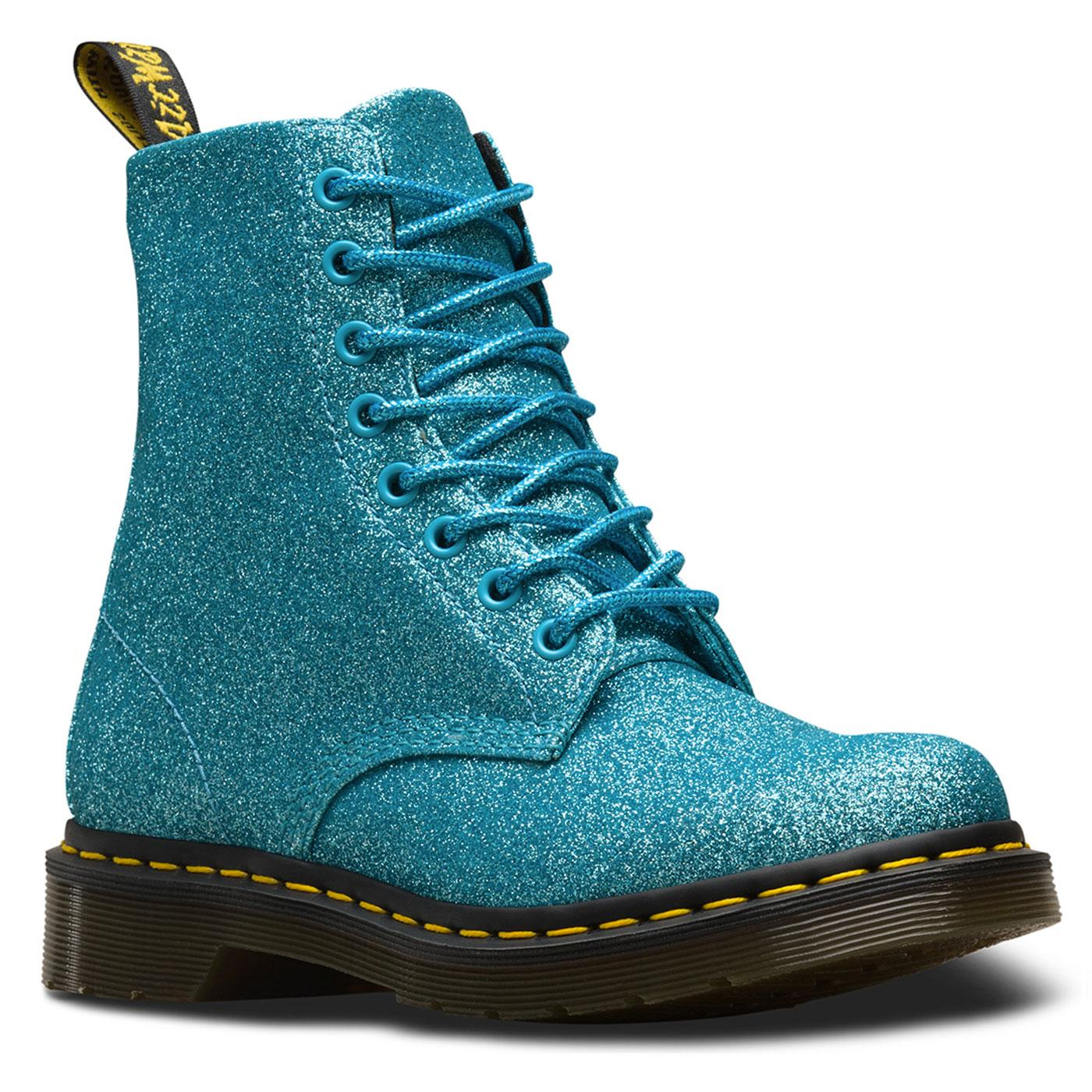 Pascal DR MARTENS 1460 Boots in Turquoise Glitter