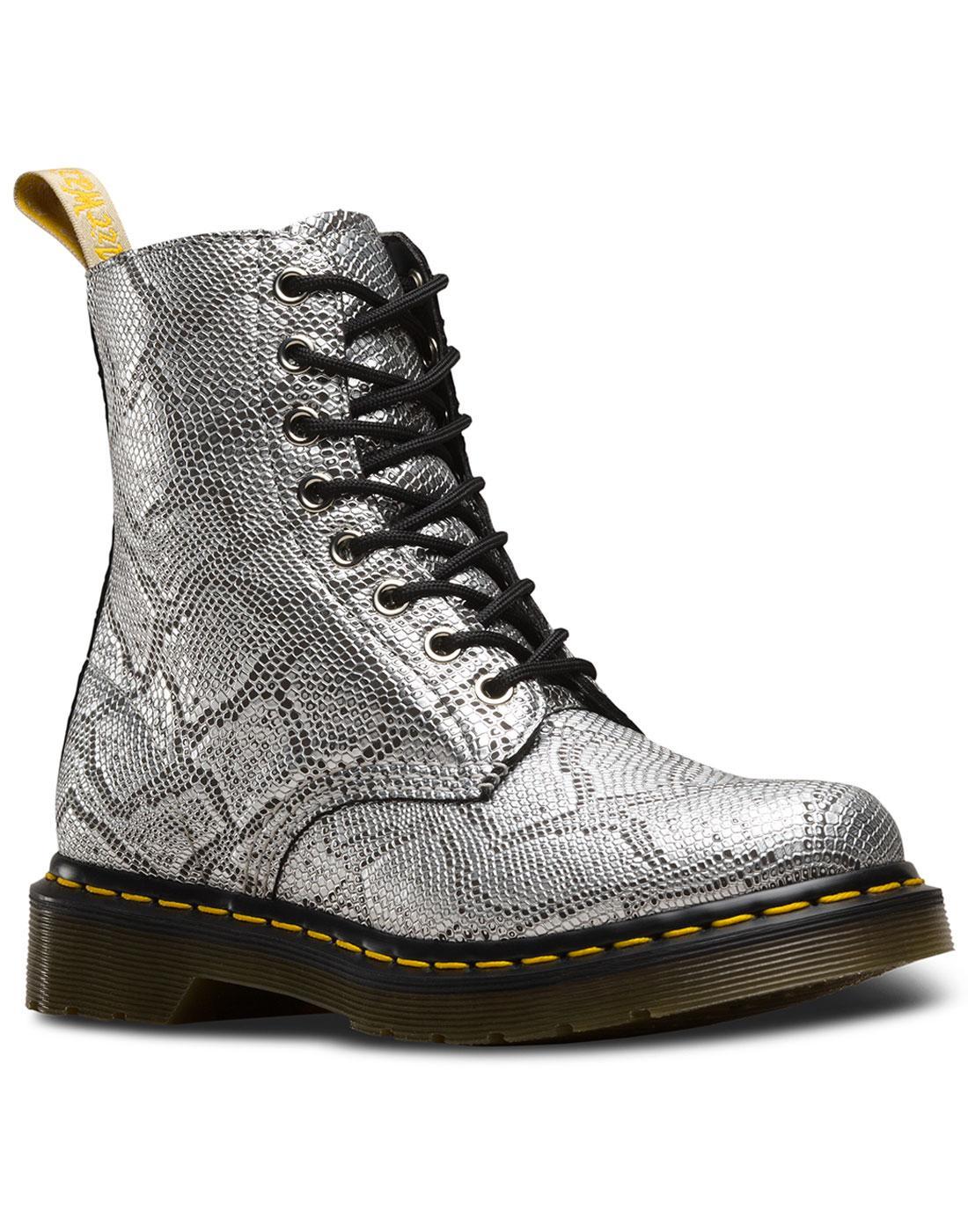 V Pascal DR MARTENS Vegan Metallic Snake Boots