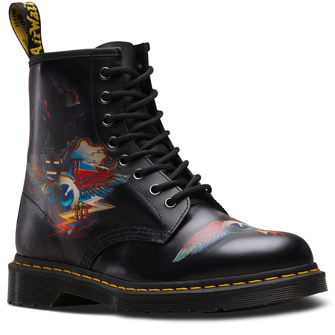 1460 DR MARTENS X RICK GRIFFIN Eye Graphic Boots