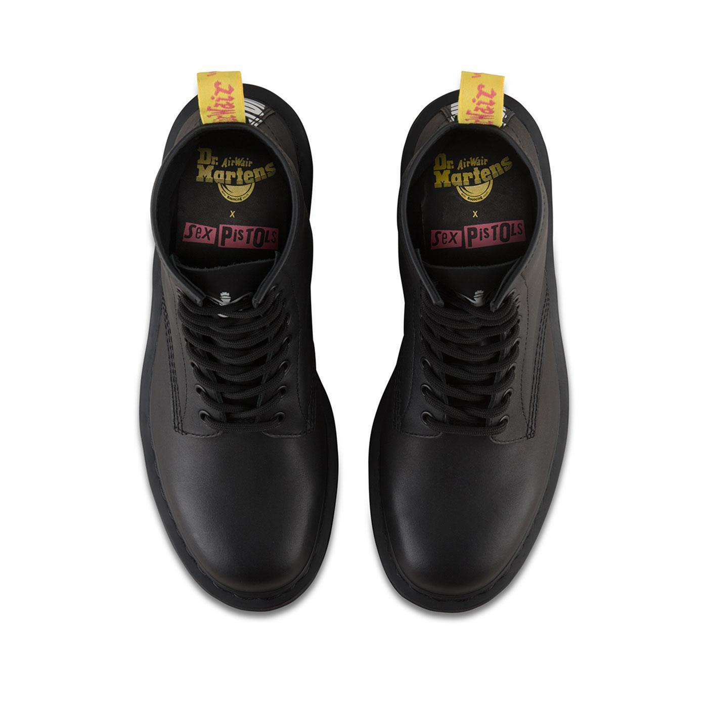 7e7f2e80076b DR MARTENS X SEX PISTOLS No Future 1460 Boots in Black