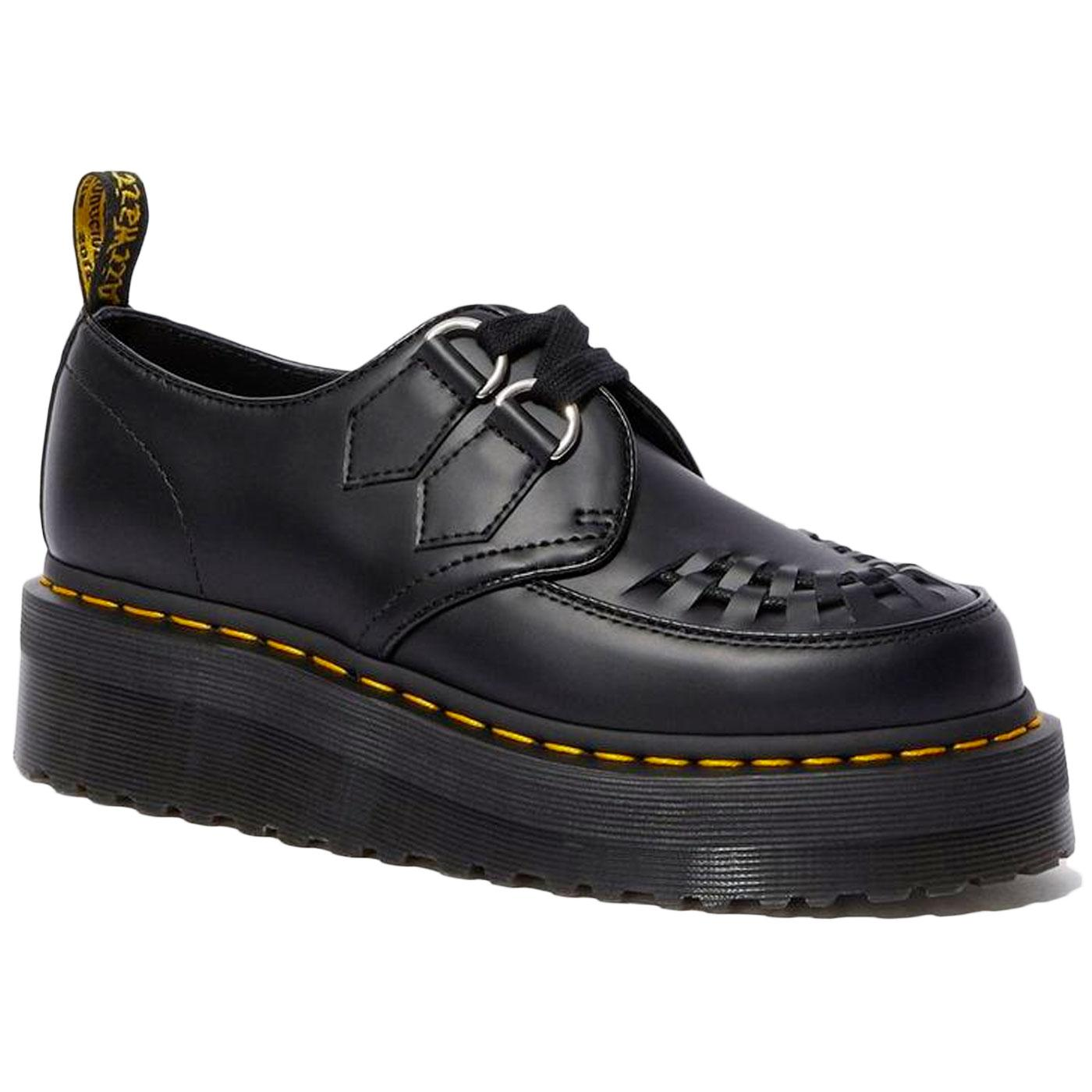 Sidney DR MARTENS Smooth Leather Platform Creepers