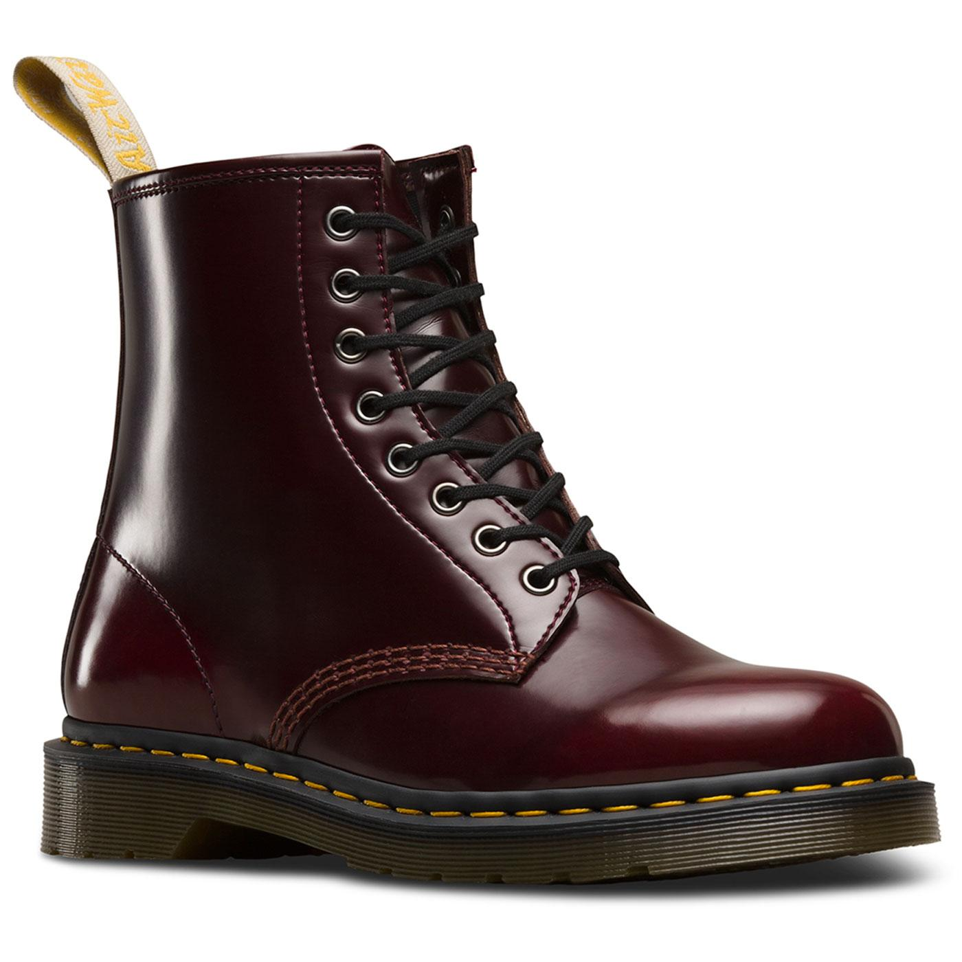 Vegan 1460 Cambridge Brush DR MARTENS Cherry Boot