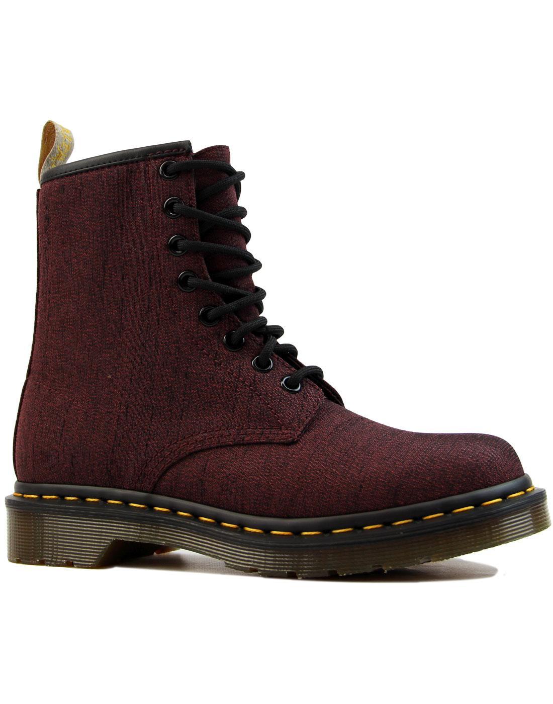 Vegan Castel 1460 DR MARTENS Cherry Serge Boots
