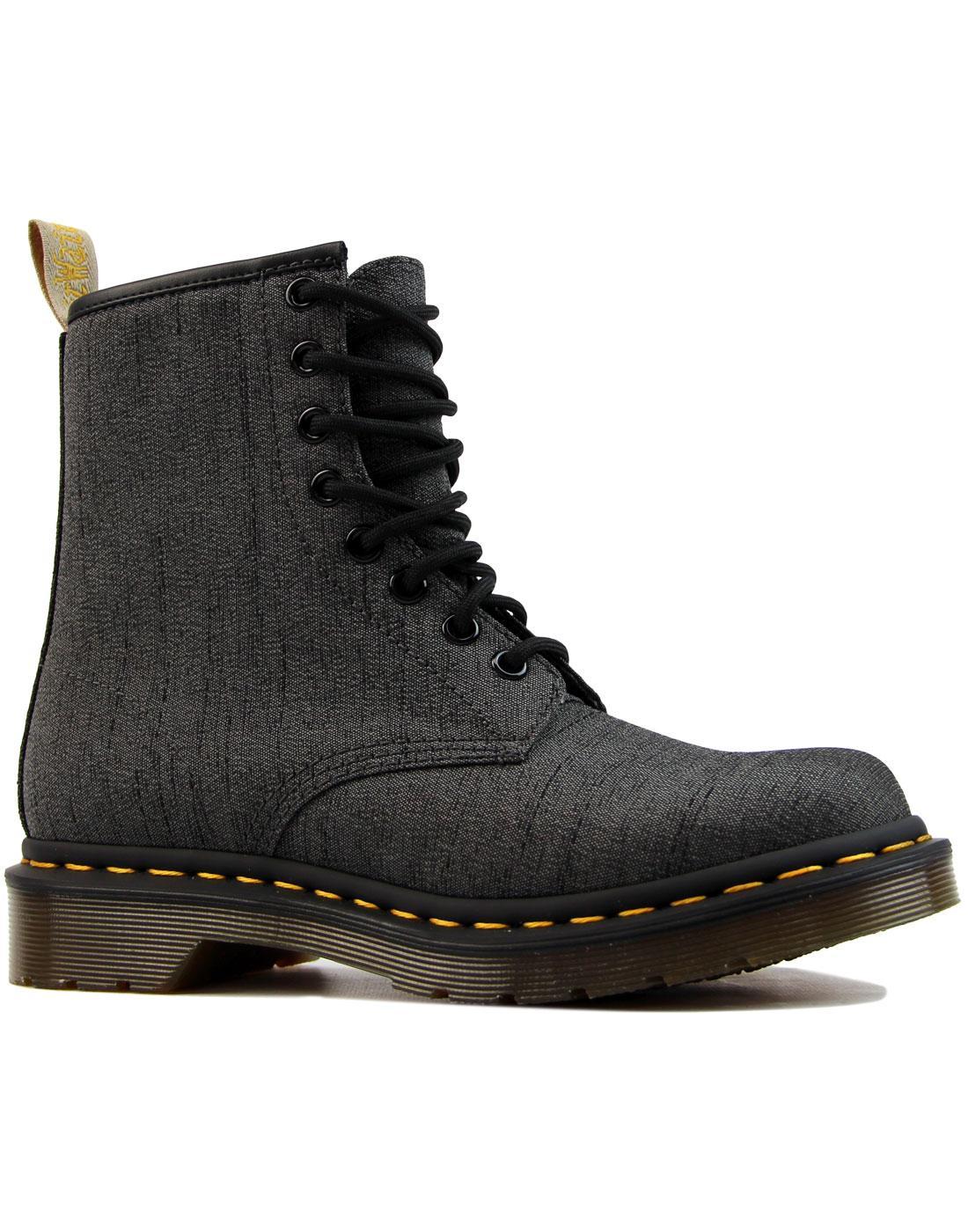 Vegan Castel 1460 DR MARTENS Gunmetal Serge Boots