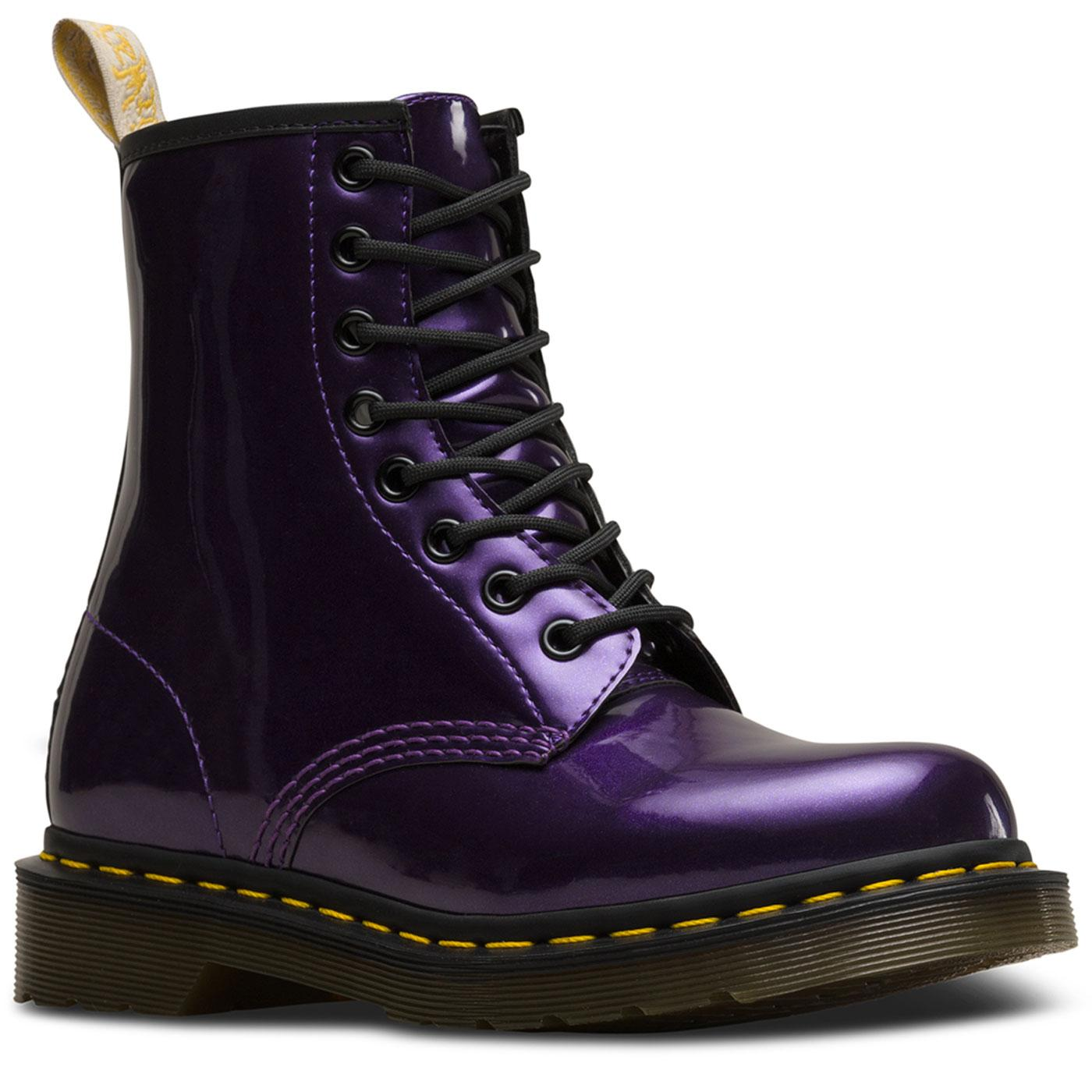 Vegan DR MARTENS 1460 Boots Chrome Metallic Purple