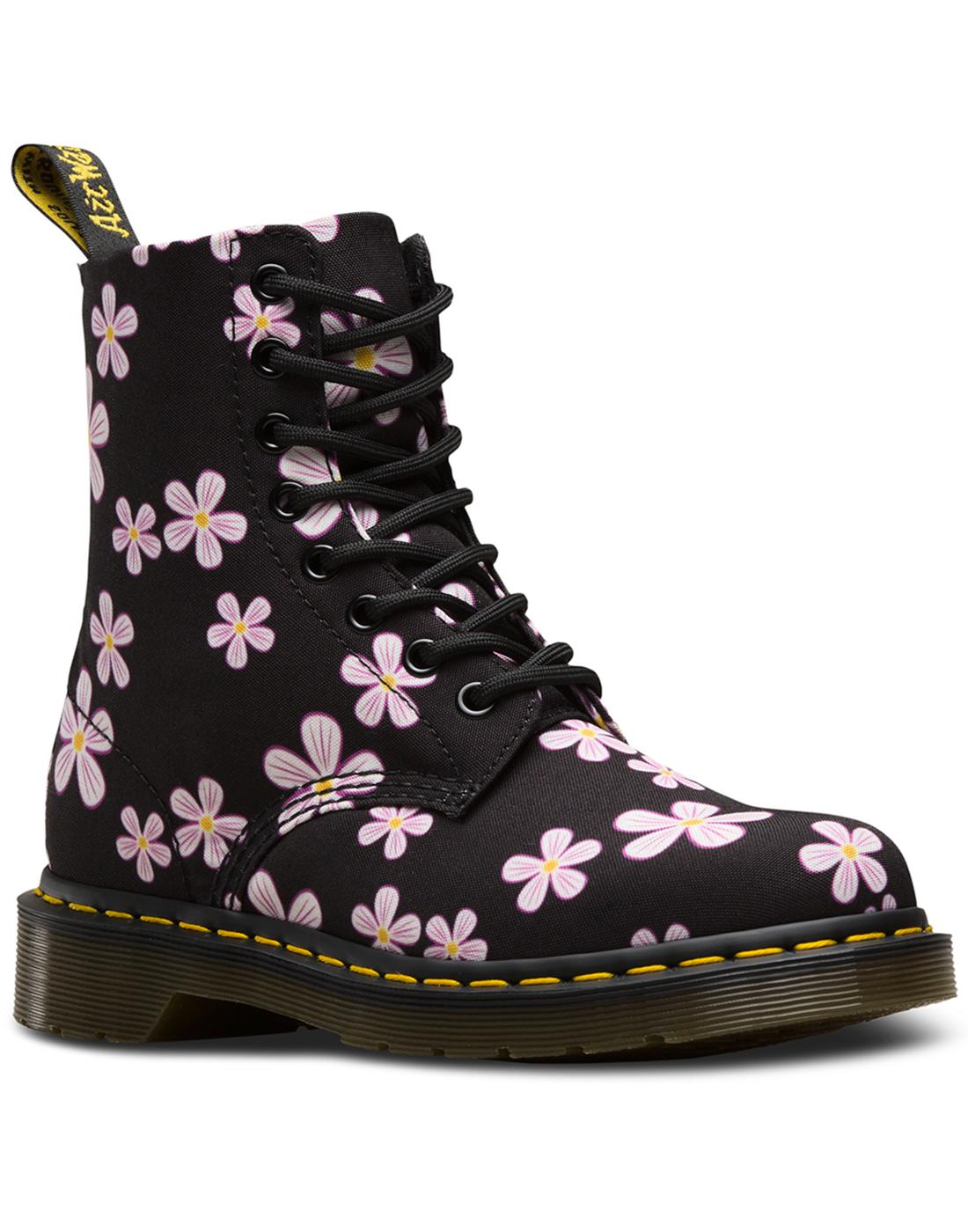 Page Meadow DR MARTENS 60s Floral Canvas Boots B