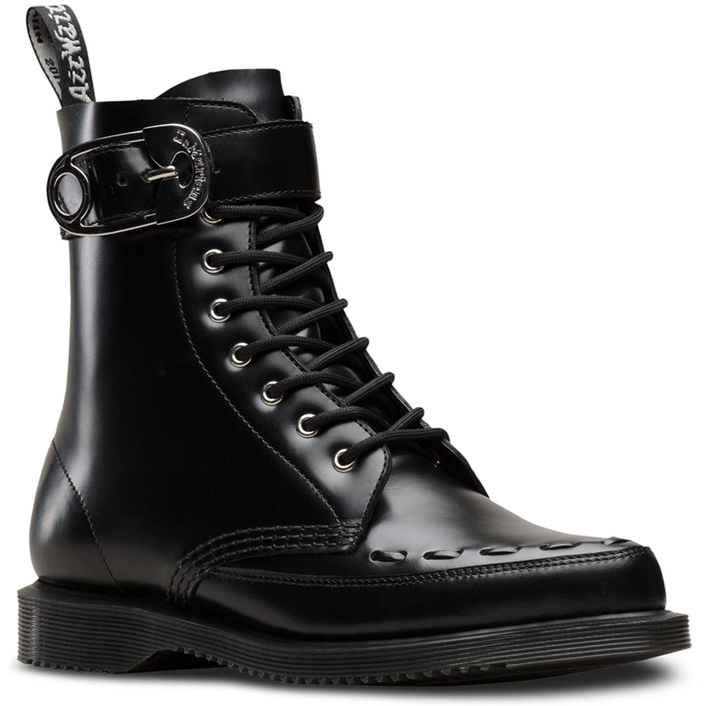 DR MARTENS Retro 70s Geordin Punk Safety Pin Boots
