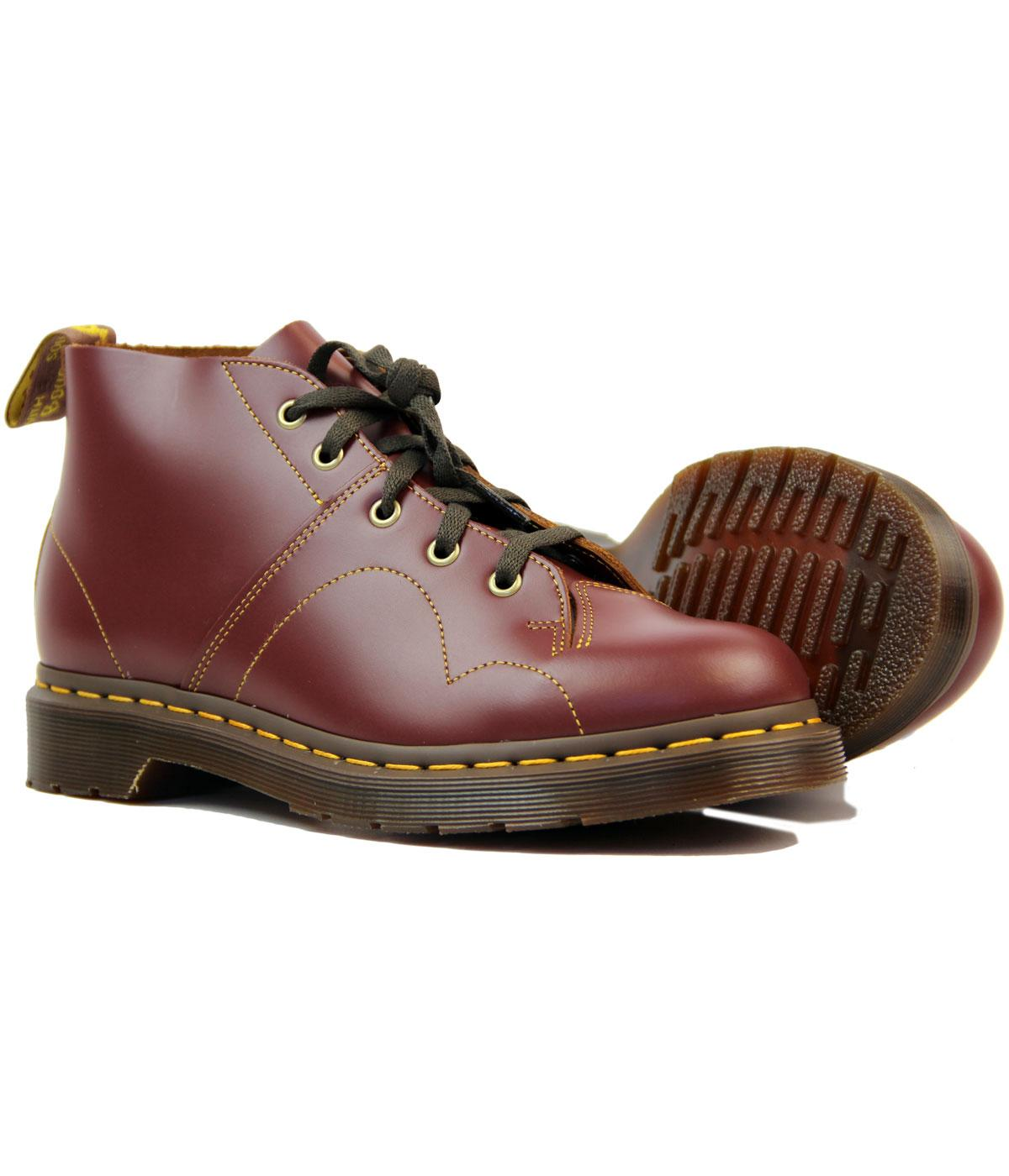 b94cb42f83e21 Dr Martens Church Retro Mod Smooth Leather Monkey Boots Oxblood