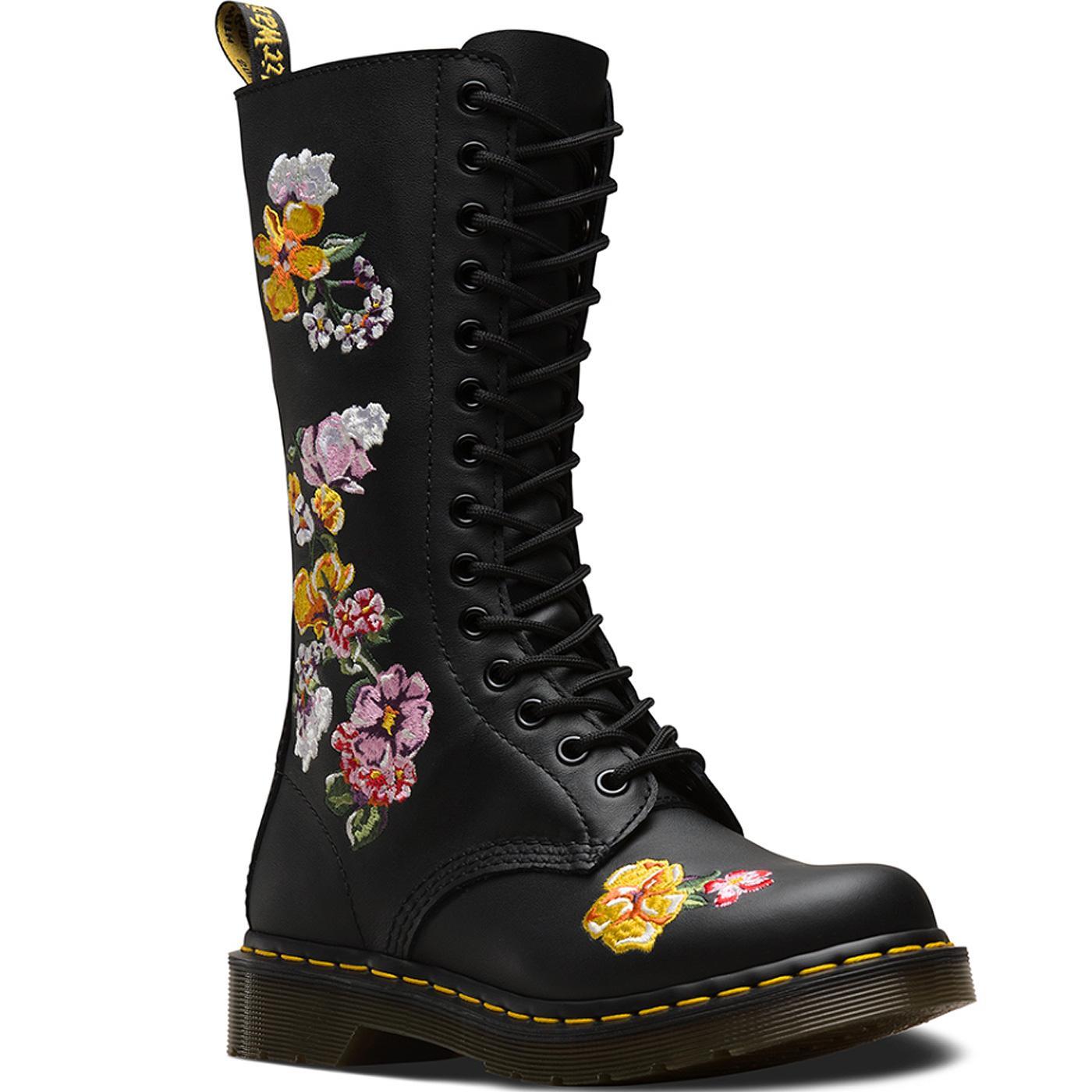 1914 Vonda II DR MARTENS Floral Knee High Boots
