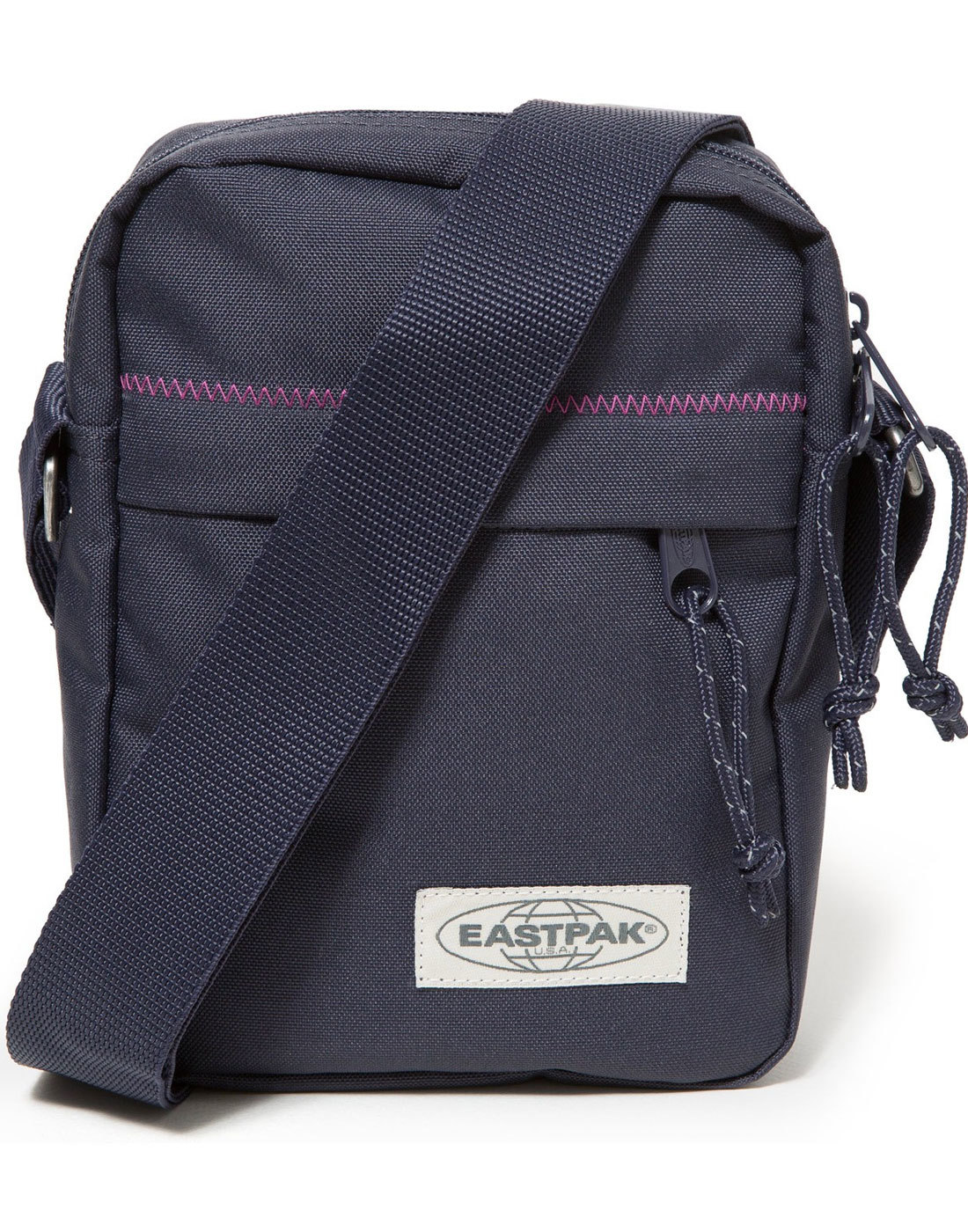The One EASTPAK Retro Navy Stitched Zip Mini Bag