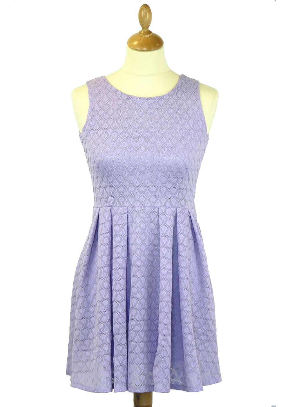 Elena LOVESTRUCK Retro Mod Textured Skater Dress
